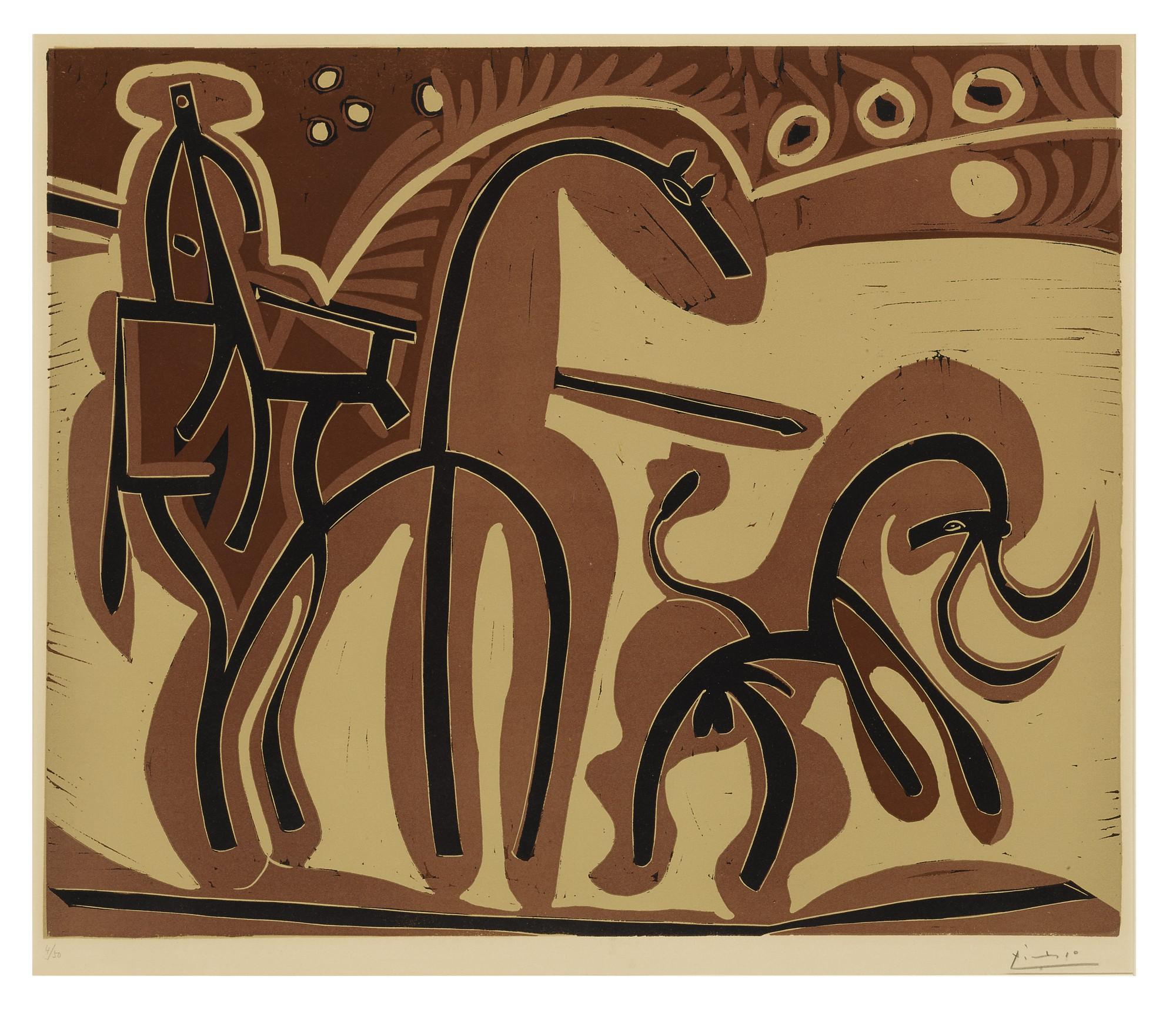 PABLO PICASSO | PICADOR ET TAUREAU (BLOCH 907; BAER 1229)