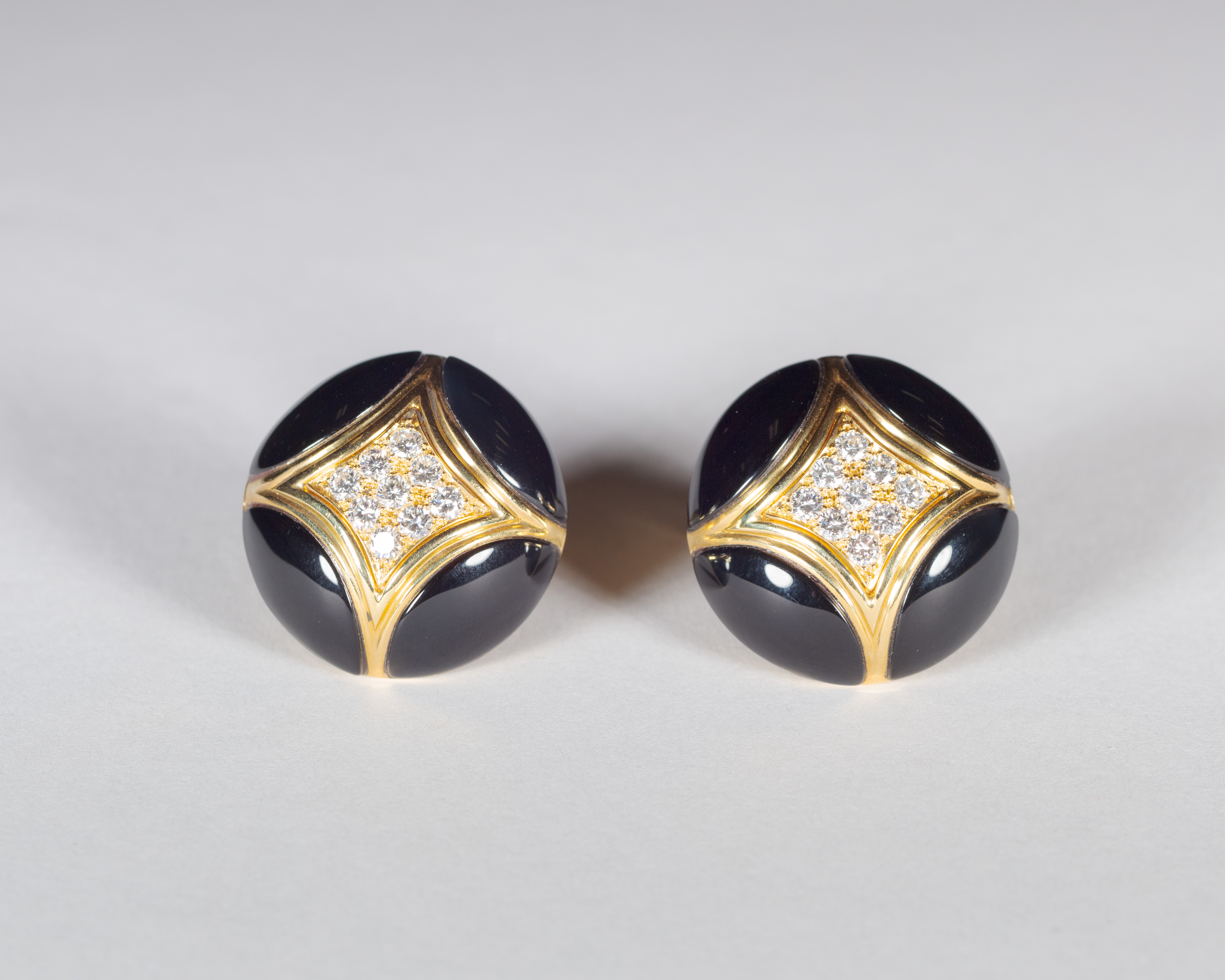 View full screen - View 1 of Lot 17. Black Onyx and Diamond .