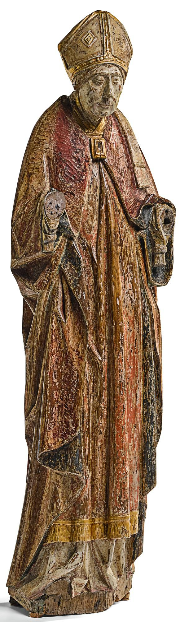 SOUTHERN NETHERLANDISH, ANTWERP, CIRCA 1460-1470 | BISHOP SAINT