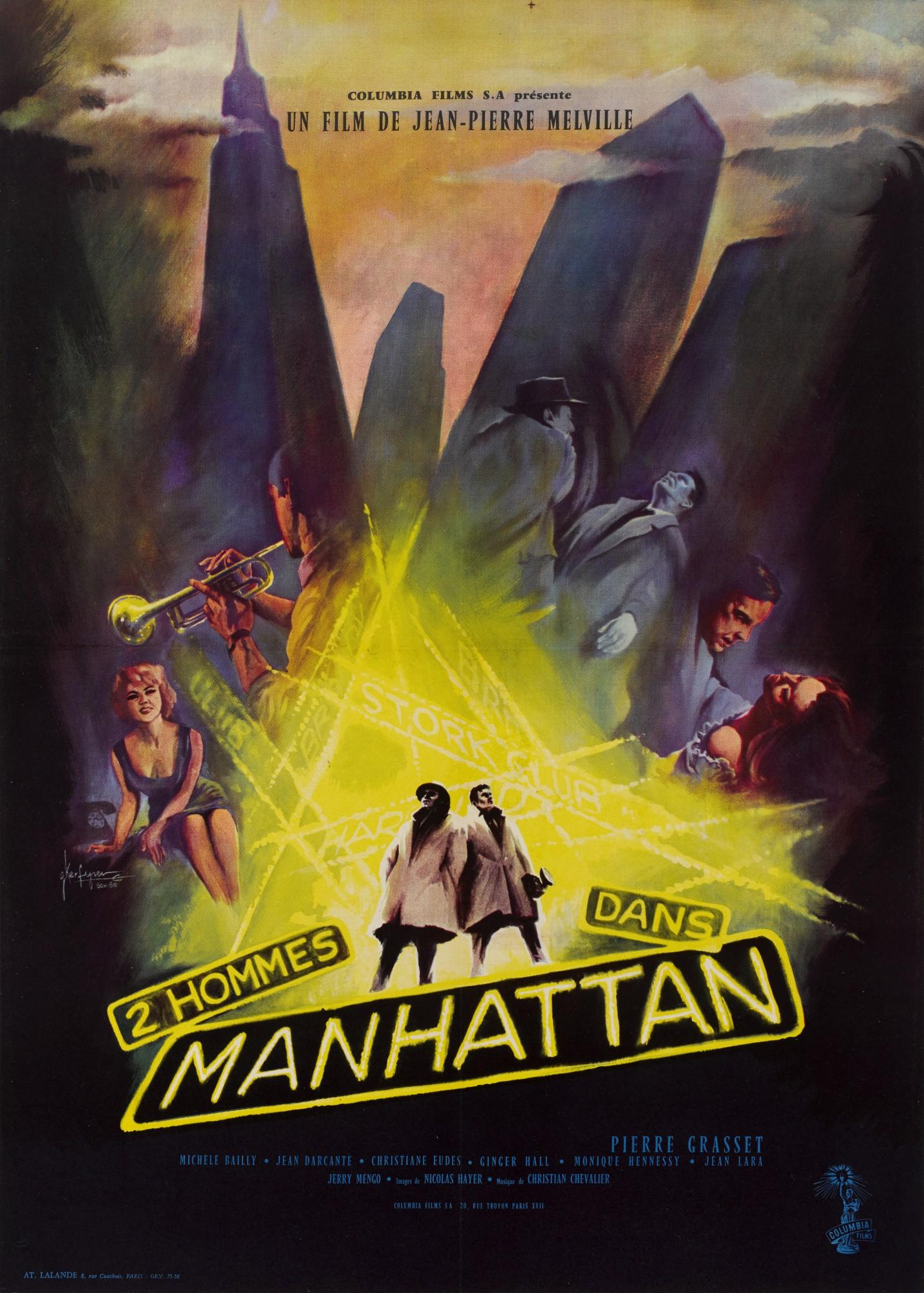 DEUX HOMMES DANS MANHATTAN/TWO MEN IN MANHATTAN (1959) POSTER, FRENCH