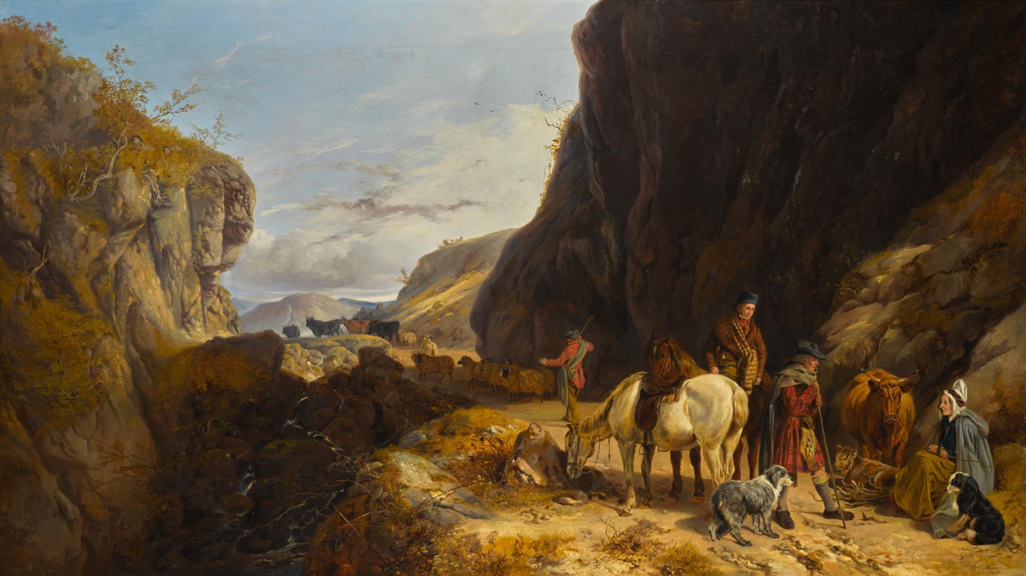 RICHARD ANSDELL, R.A. | A PASS NEAR GLENCOE, ARGYLESHIRE