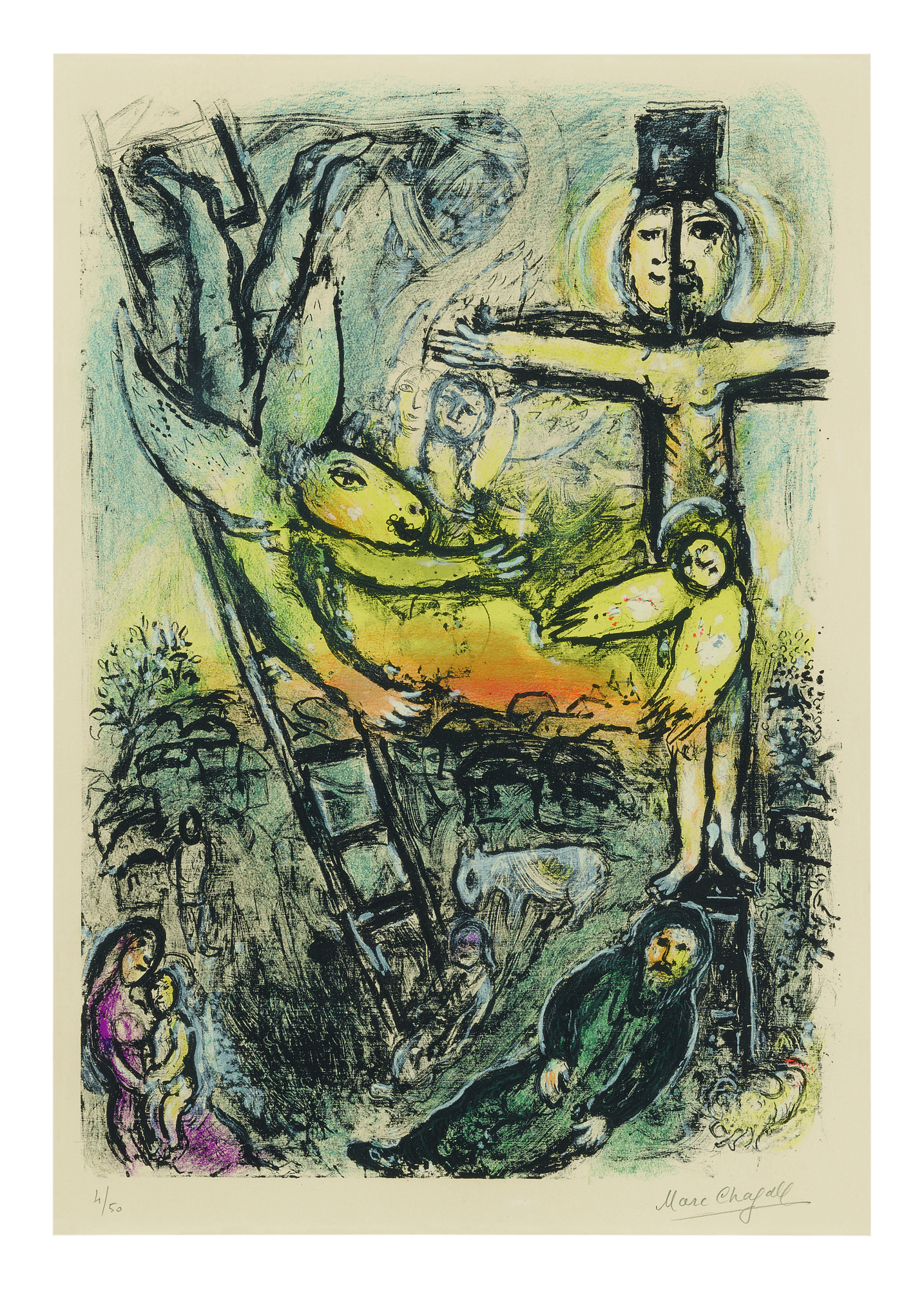 MARC CHAGALL | JACOB'S DREAM (MOURLOT 625)