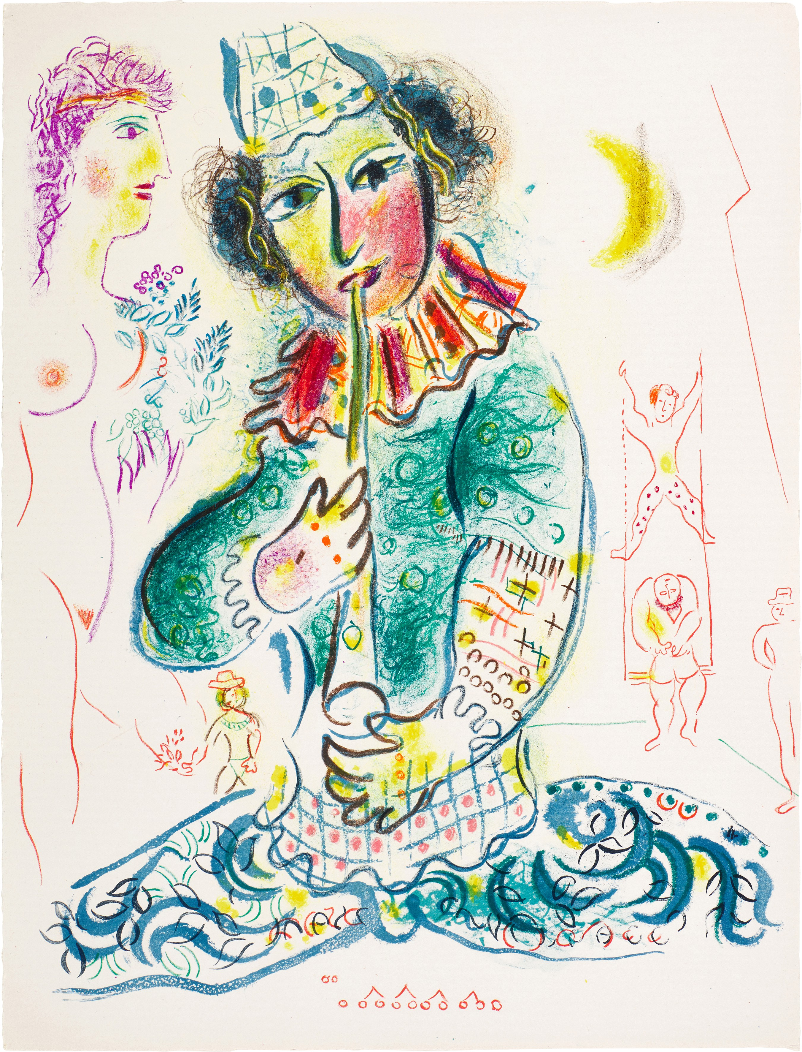 View full screen - View 1 of Lot 58. MARC CHAGALL   LE CIRQUE: ONE PLATE (M. 527; C. BKS. 68).