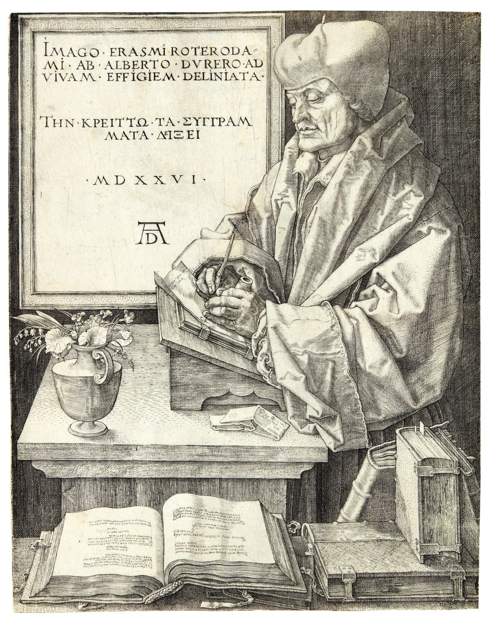 ALBRECHT DÜRER | ERASMUS VON ROTTERDAM (B. 107; M., HOLL. 105)