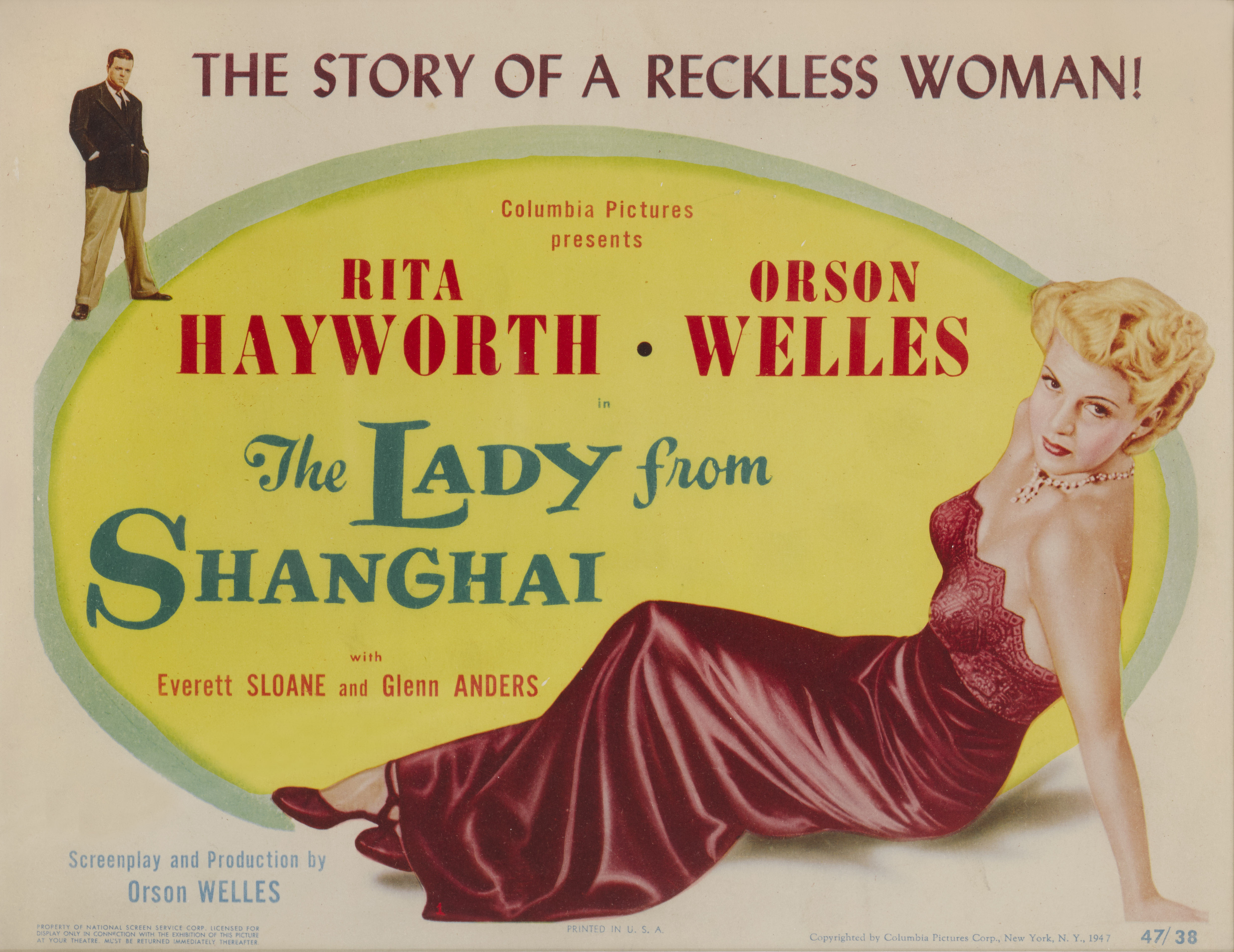 View full screen - View 1 of Lot 50. The Lady From Shanghai (1948), US, Title card .