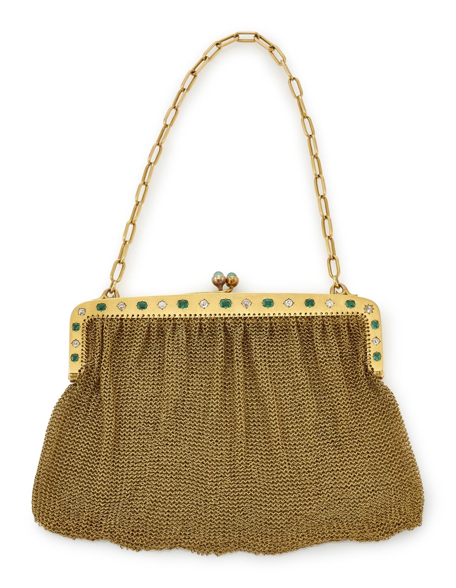 LADY'S EMERALD AND DIAMOND EVENING BAG (BORSETTA DA SERA CON SMERALDI E DIAMANTI)