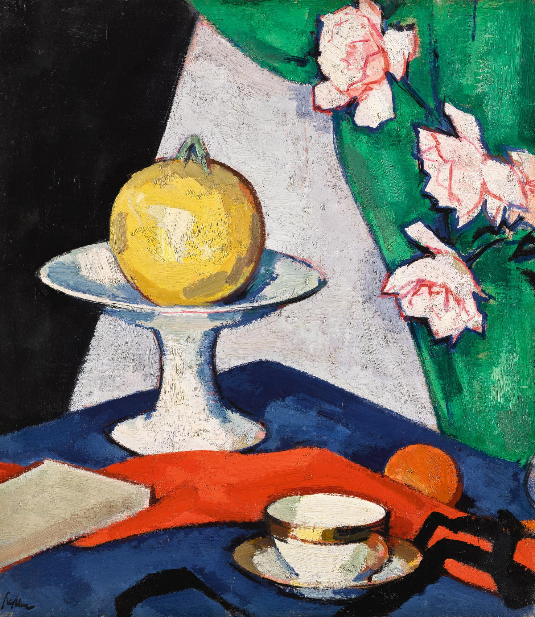 SAMUEL JOHN PEPLOE, R.S.A. | STILL LIFE WITH ROSES (RECTO); STILL LIFE WITH TEAPOT AND FRUIT (VERSO)