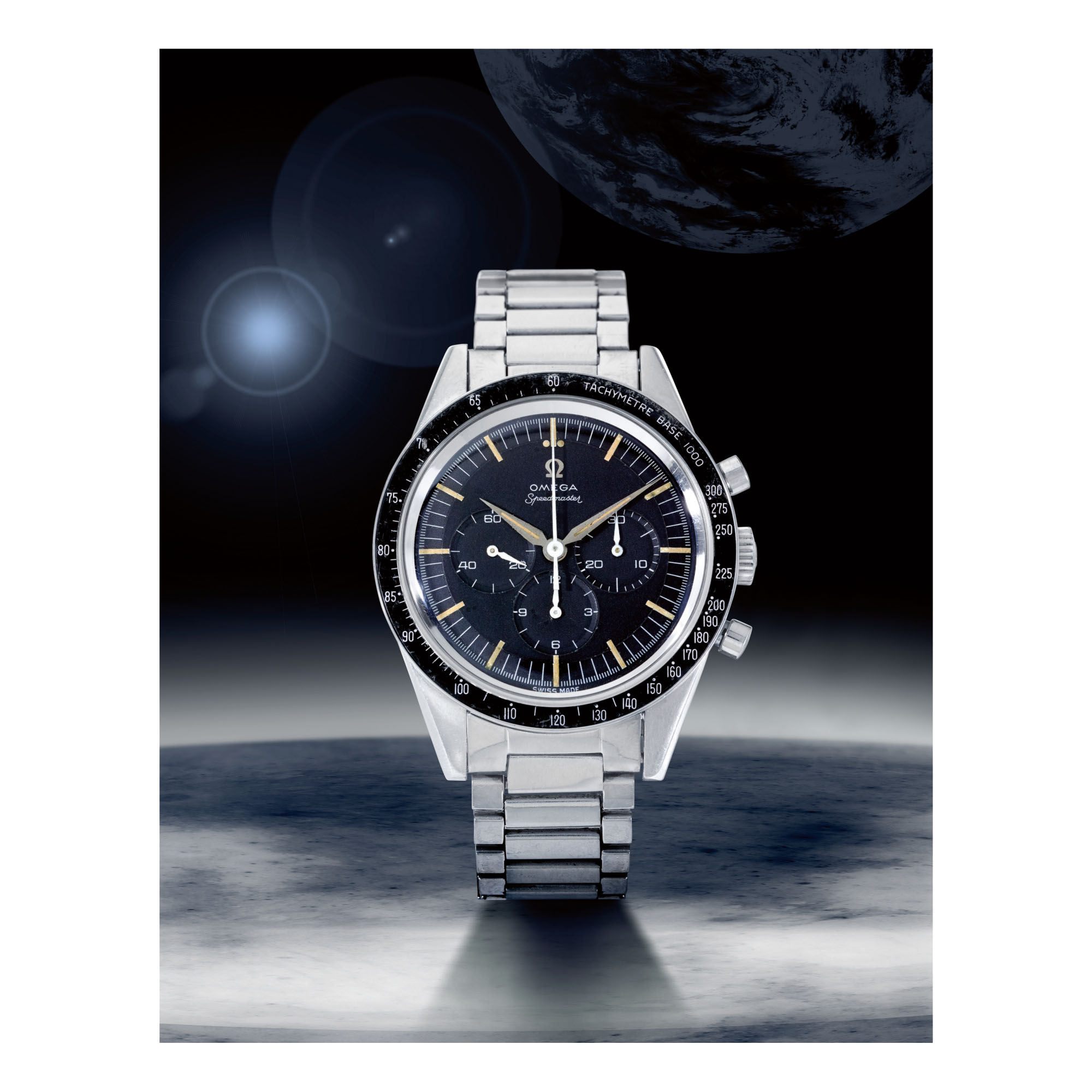 OMEGA | SPEEDMASTER REF 2998-2, A STAINLESS STEEL CHRONOGRAPH WRISTWATCH WITH BRACELET, MADE IN 1960