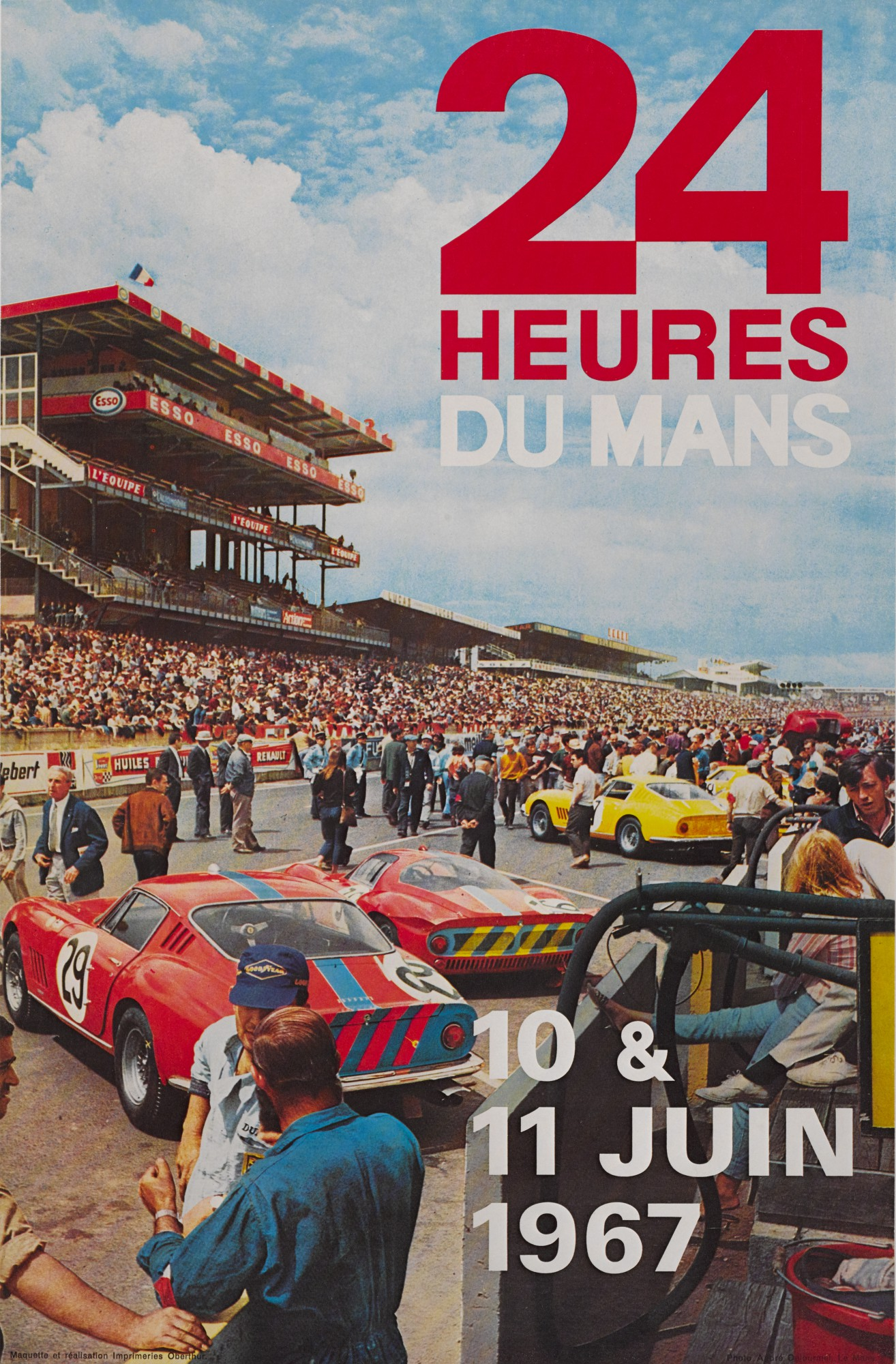 24 HEURES DU MANS (1967) POSTER, FRENCH