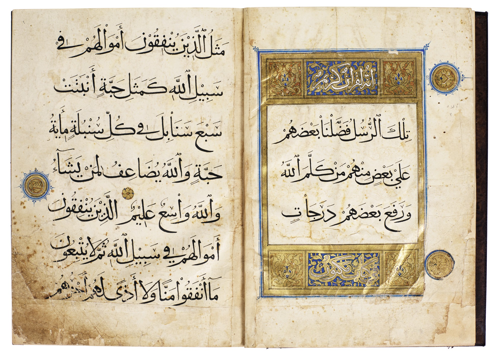 AN ILLUMINATED QUR'AN JUZ' (III), EGYPT, MAMLUK, 14TH/15TH CENTURY