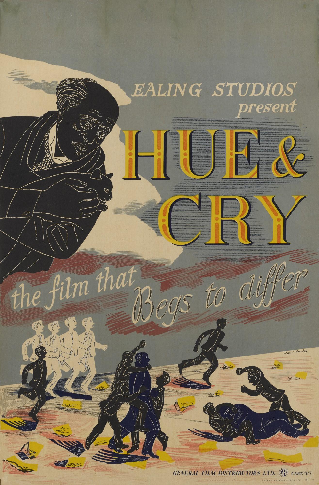 HUE AND CRY (1947) POSTER, BRITISH