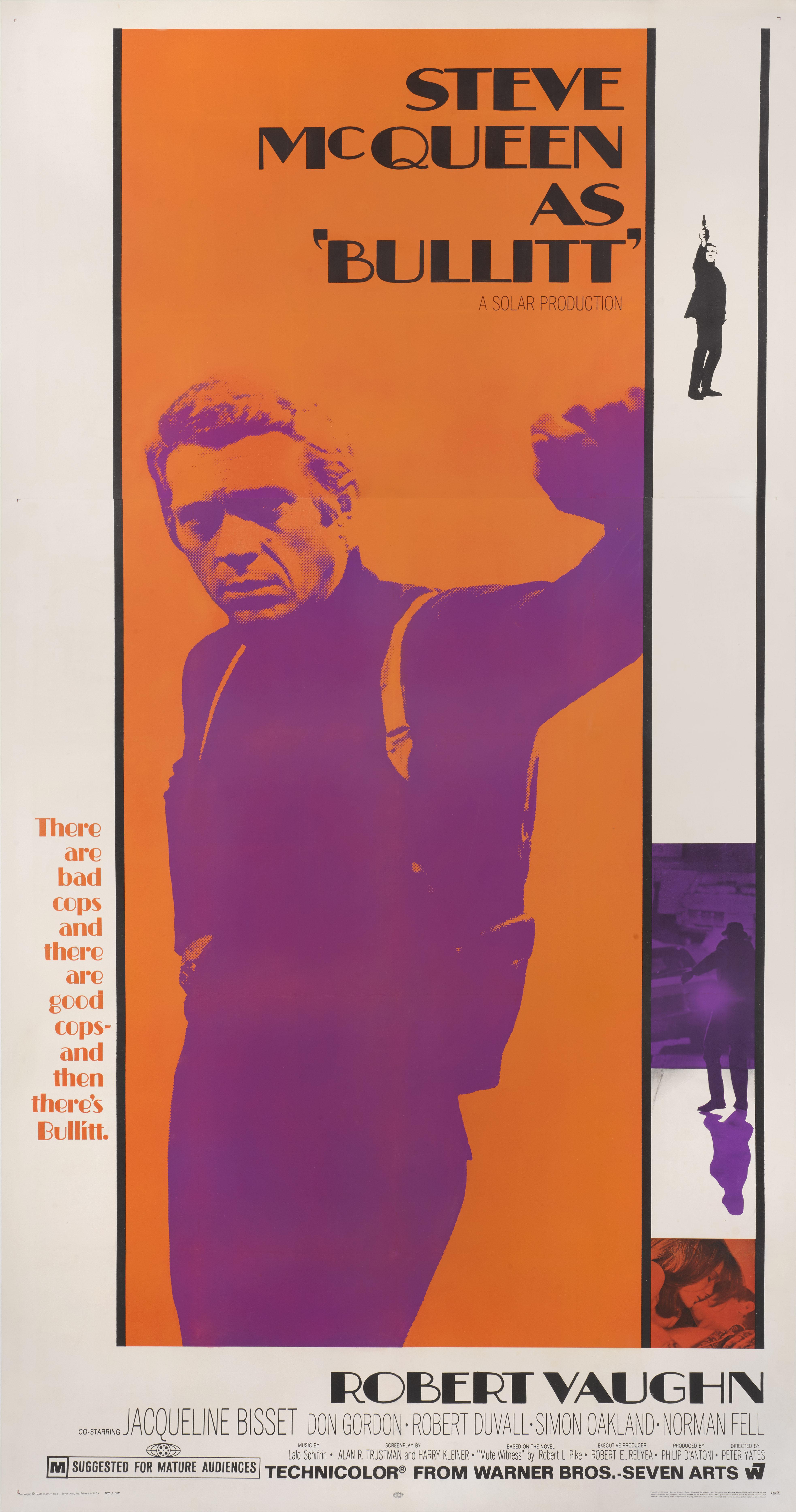 View full screen - View 1 of Lot 14. Bullitt (1968) Poster, US  .