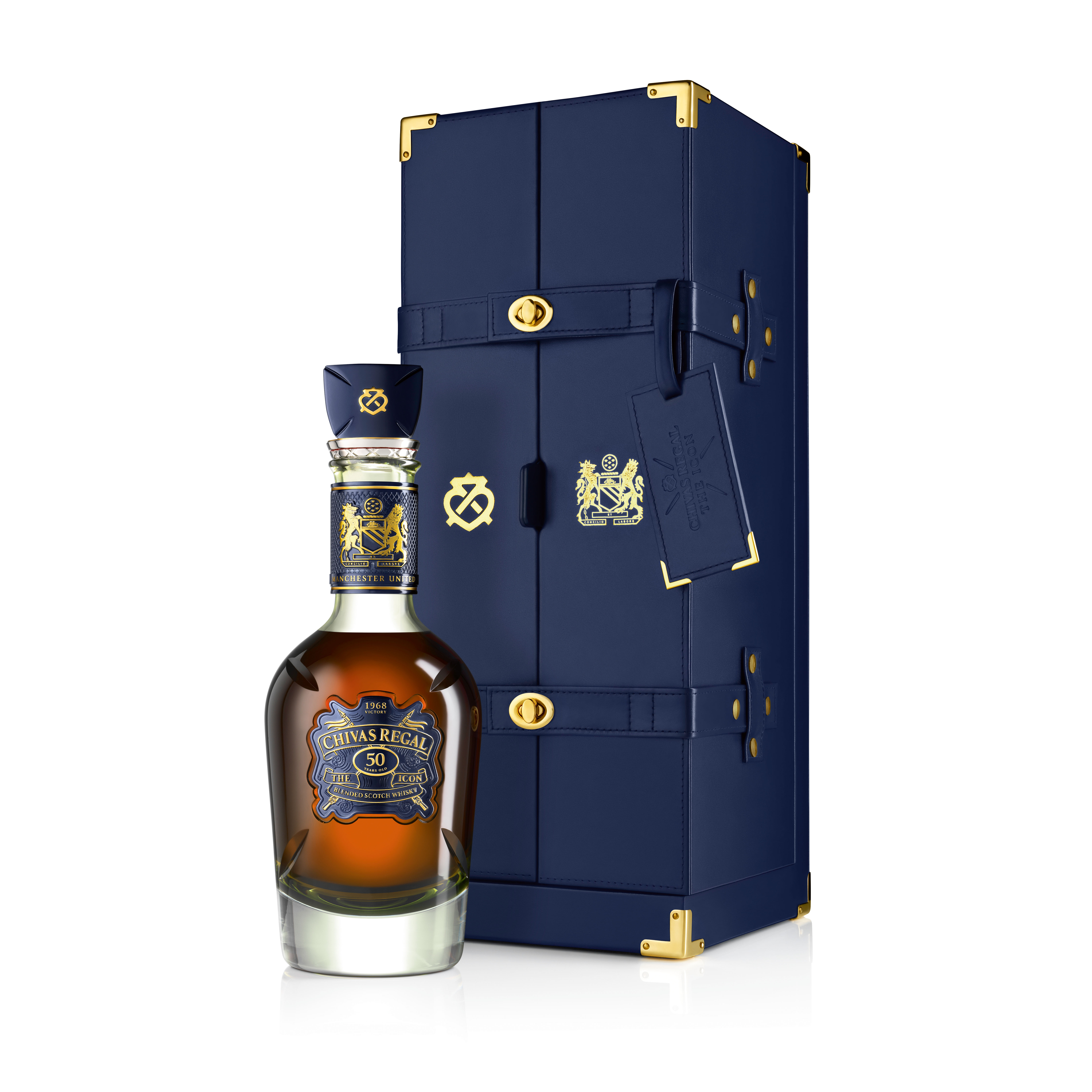 View full screen - View 1 of Lot 1. CHIVAS REGAL THE ICON | 50TH ANNIVERSARY LIMITED EDITION BLENDED SCOTCH WHISKY, AGED 50 YEARS.