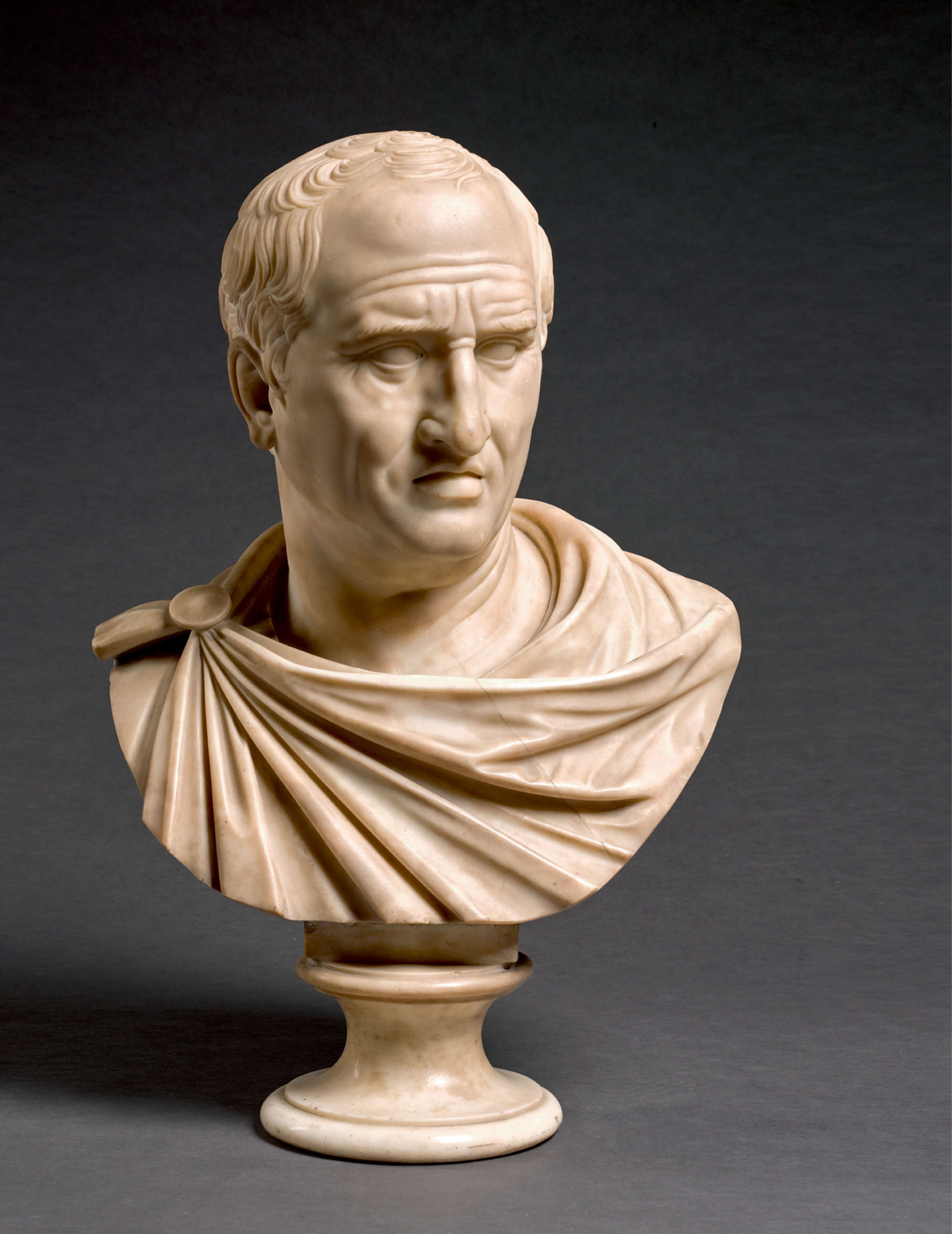 View full screen - View 1 of Lot 105. ITALIAN, CIRCA 1800, AFTER THE ANTIQUE   BUST OF MARCUS TULLIUS CICERO (106-43 BCE).