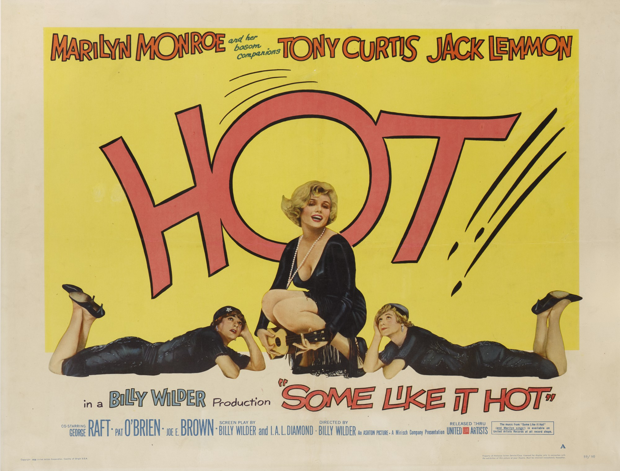 SOME LIKE IT HOT (1959) POSTER, US