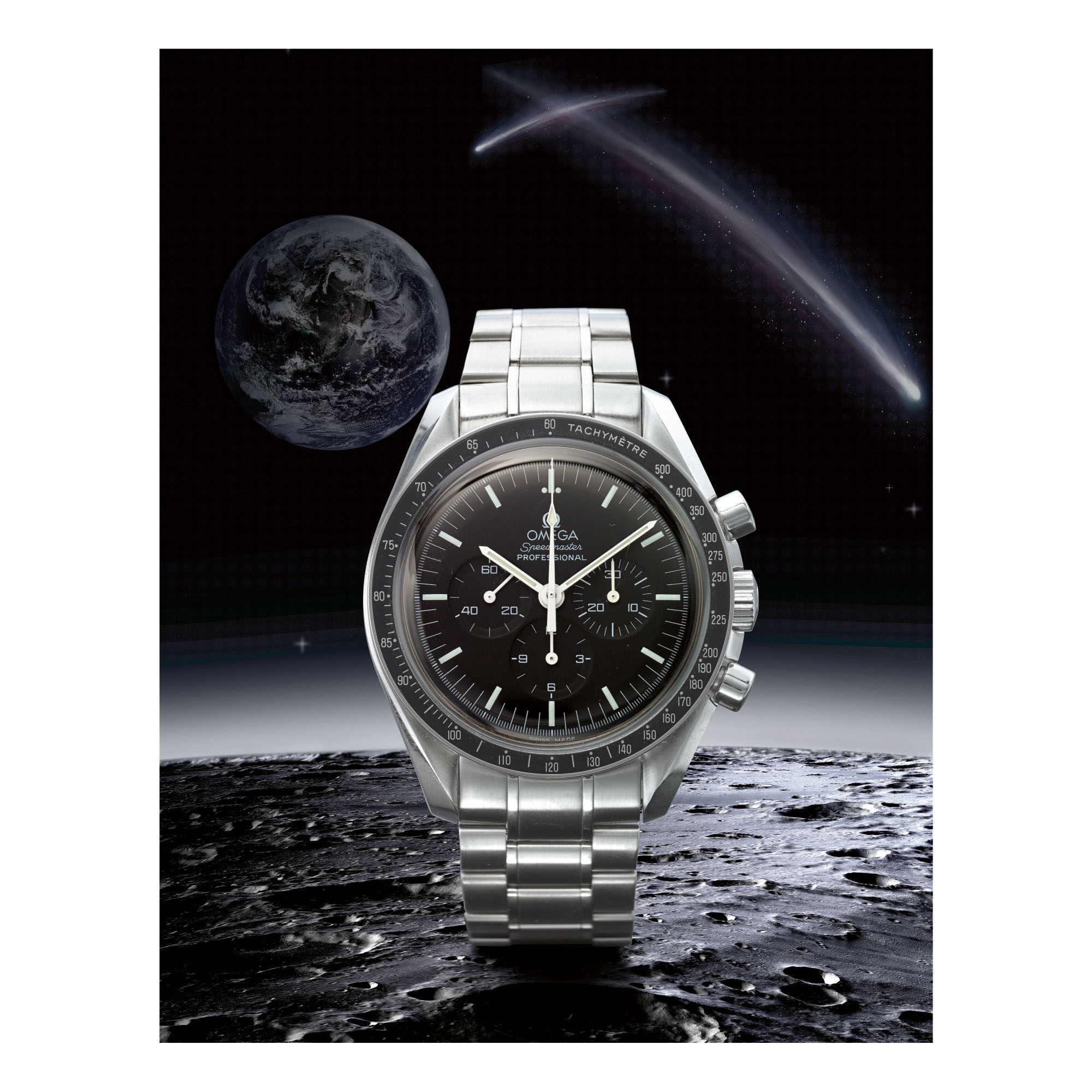 OMEGA | SPEEDMASTER REF 3570.50.00 'RED DOT',  A STAINLESS STEEL CHRONOGRAPH WRISTWATCH, MADE IN 2008