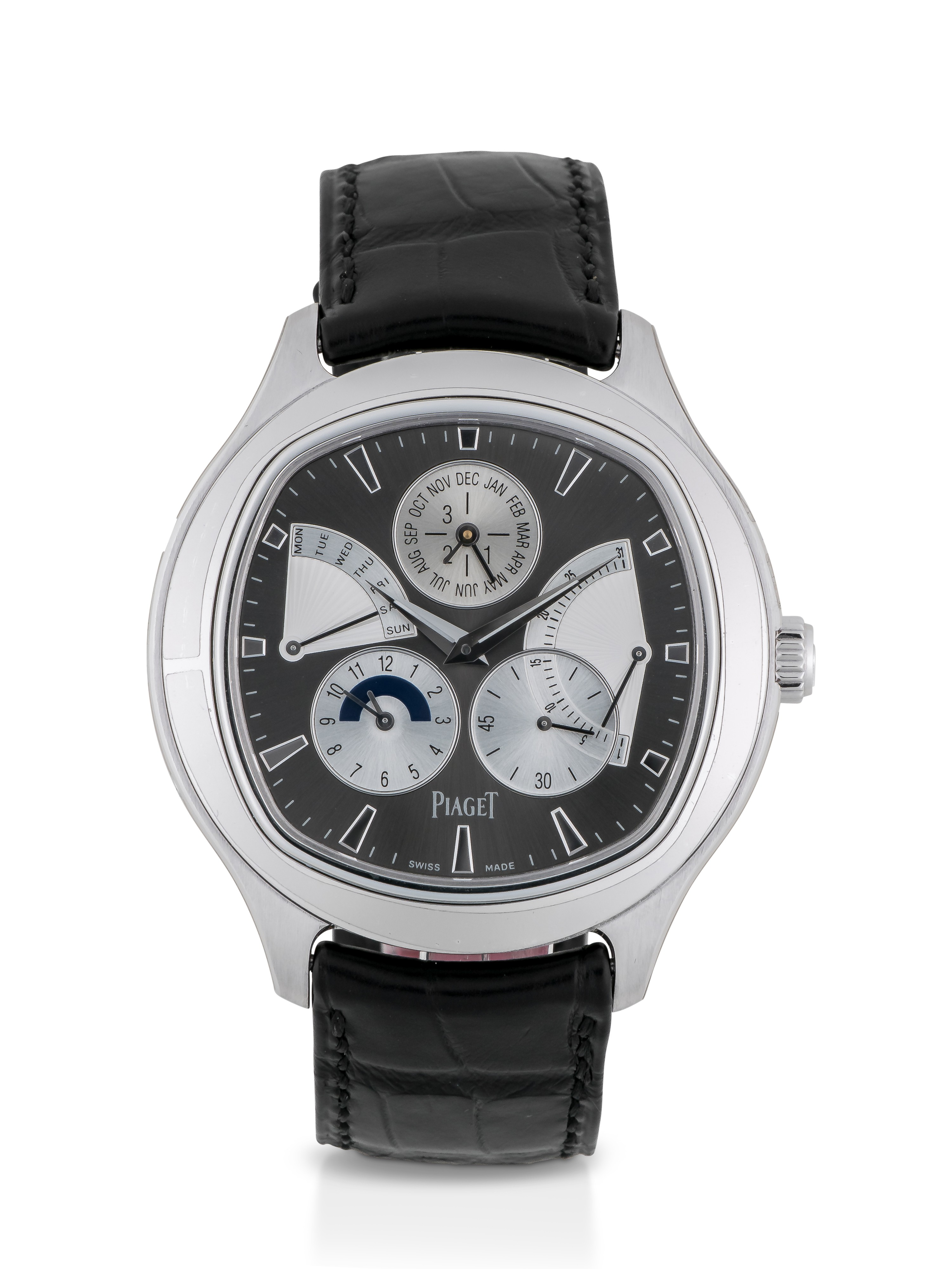 PIAGET | EMPERADOR, REF P10533 LIMITED EDITION WHITE GOLD PERPETUAL CALENDAR WRISTWATCH WITH LEAP-YEAR AND 24-HOUR INDICATION CIRCA 2016