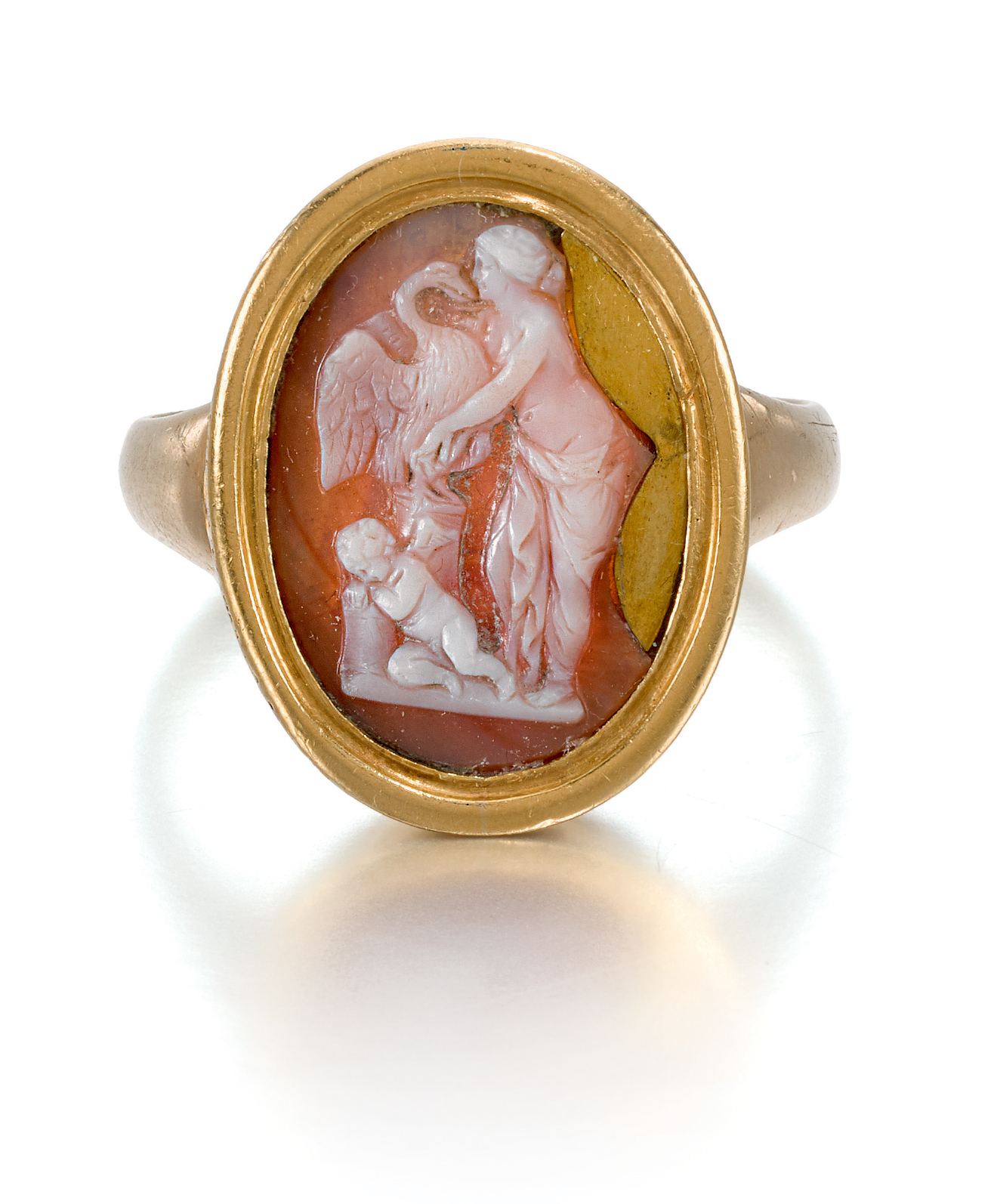 POSSIBLY ROMAN, CIRCA 2ND CENTURY C.E., OR ITALIAN, CIRCA 16TH CENTURY |  CAMEO WITH LEDA AND THE SWAN WITH CUPID