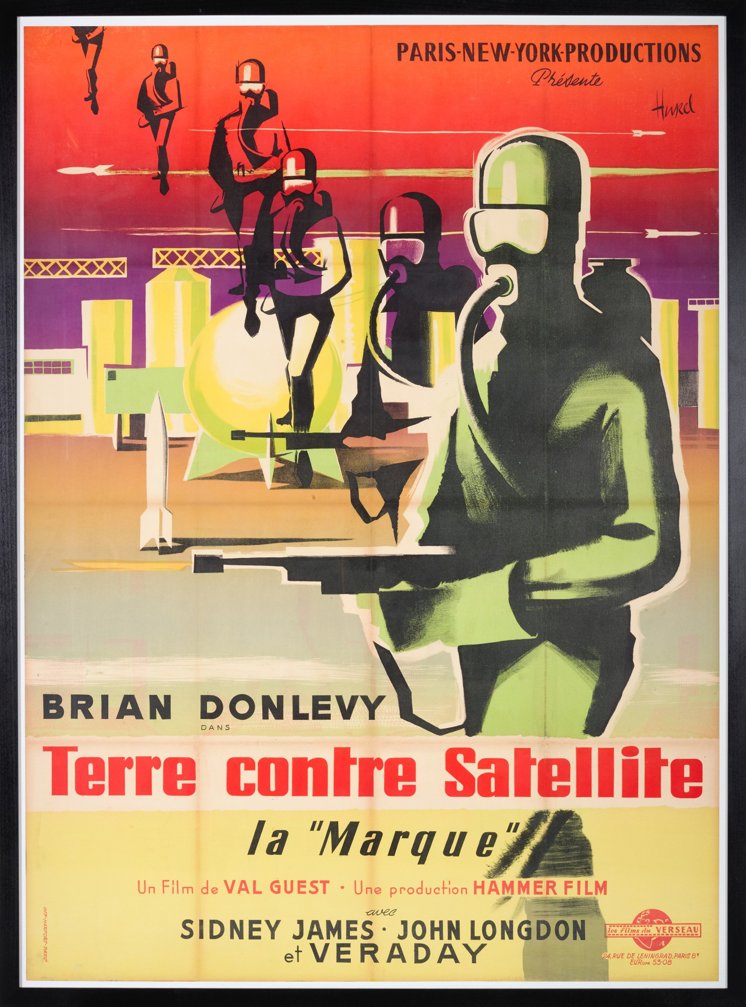 Quatermass Ii Terre Contre Satellite 1967 Poster French