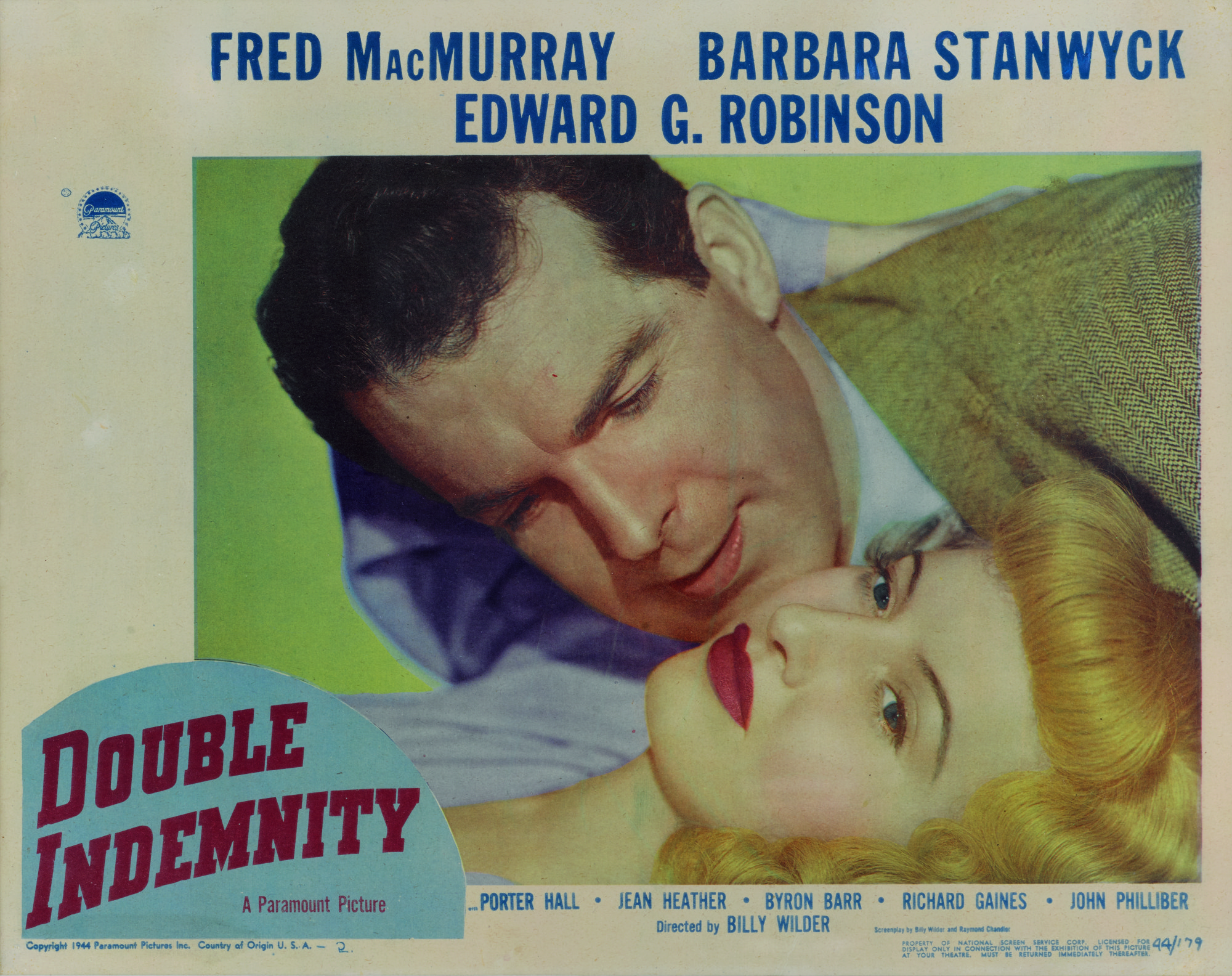 Double Indemnity (1944) lobby card, US   Original Film Posters Online    Collectibles   Sotheby's