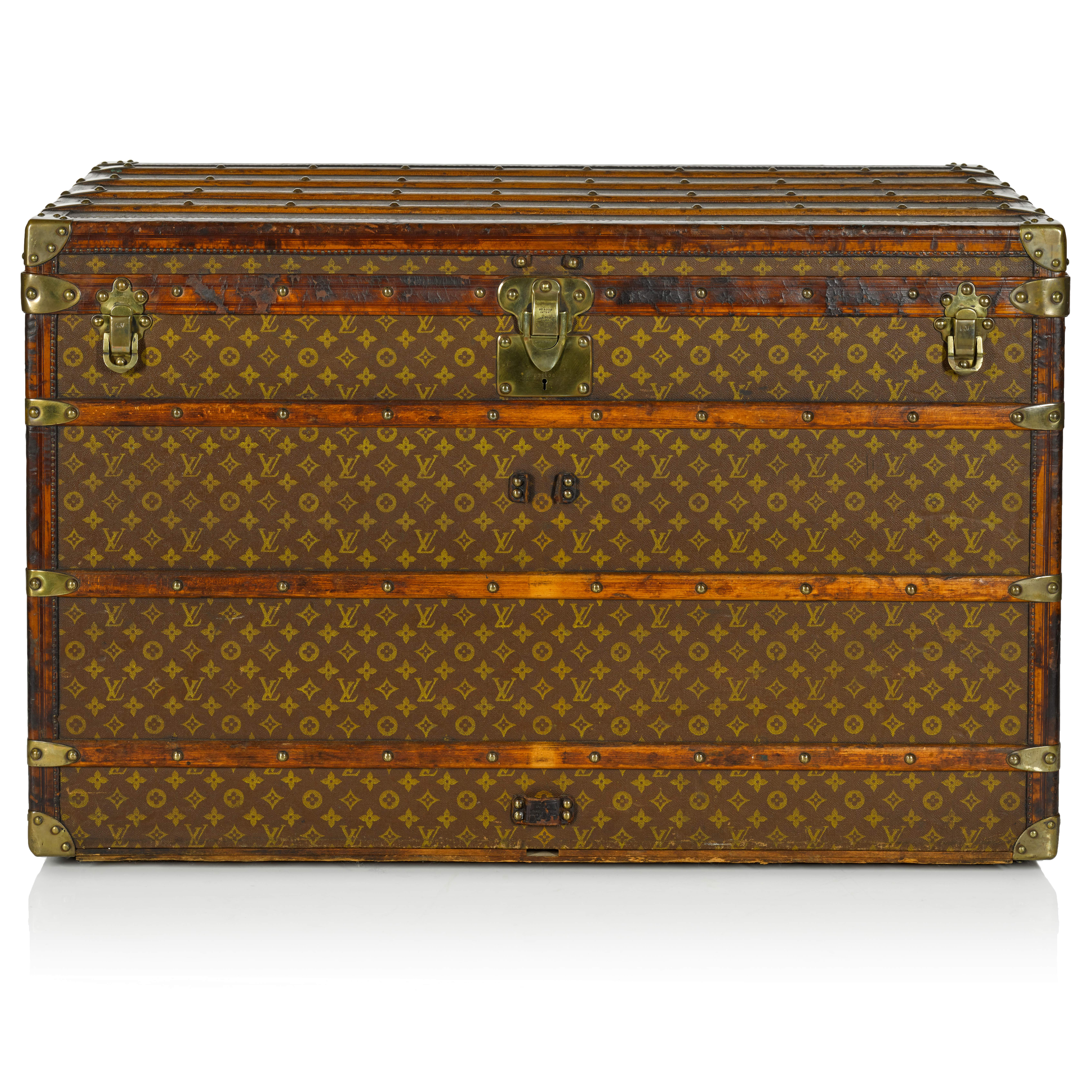 View full screen - View 1 of Lot 99. Monogram Steamer Trunk, 1930s.