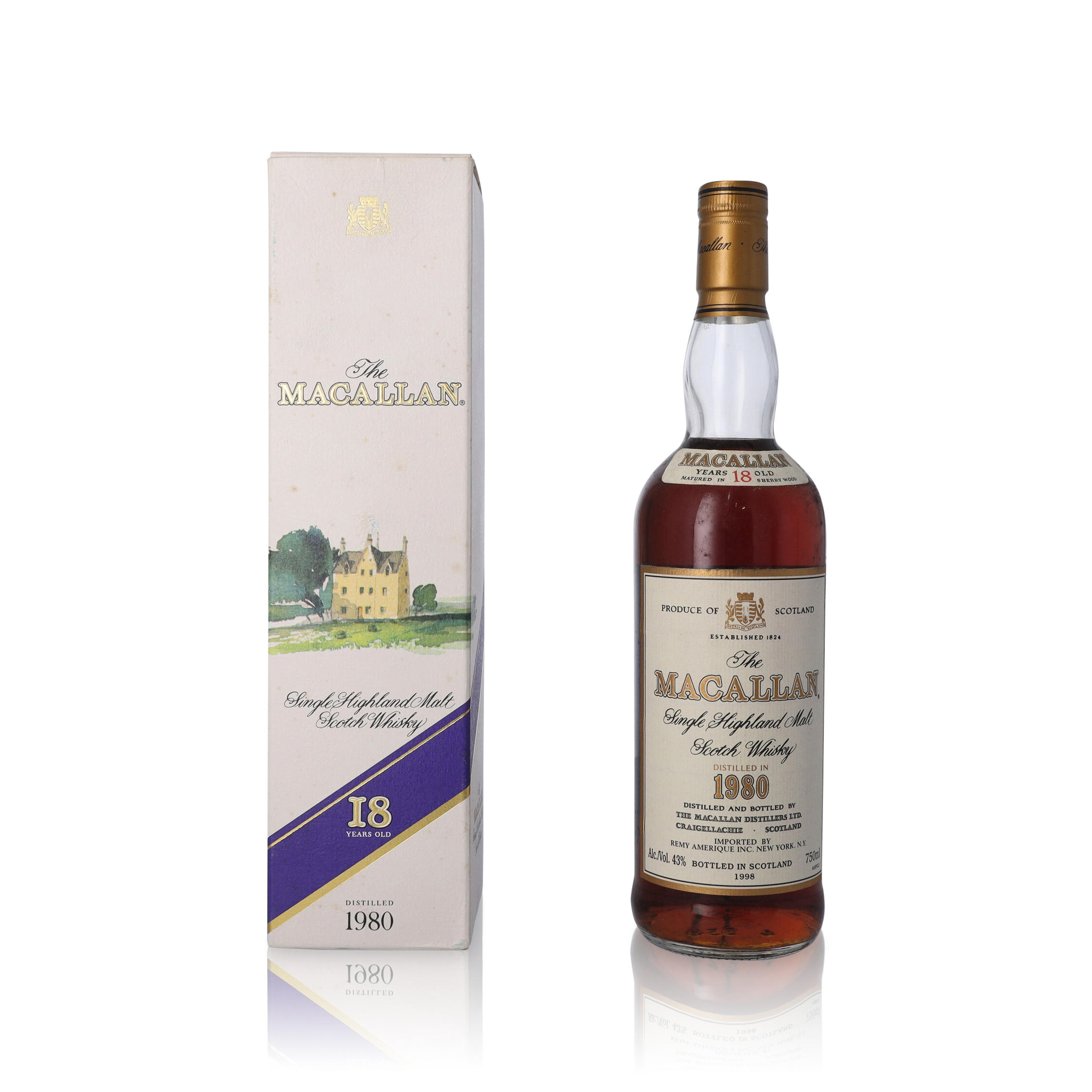View full screen - View 1 of Lot 19. The Macallan 18 Year Old 43.0 abv 1980 (1 BT75).