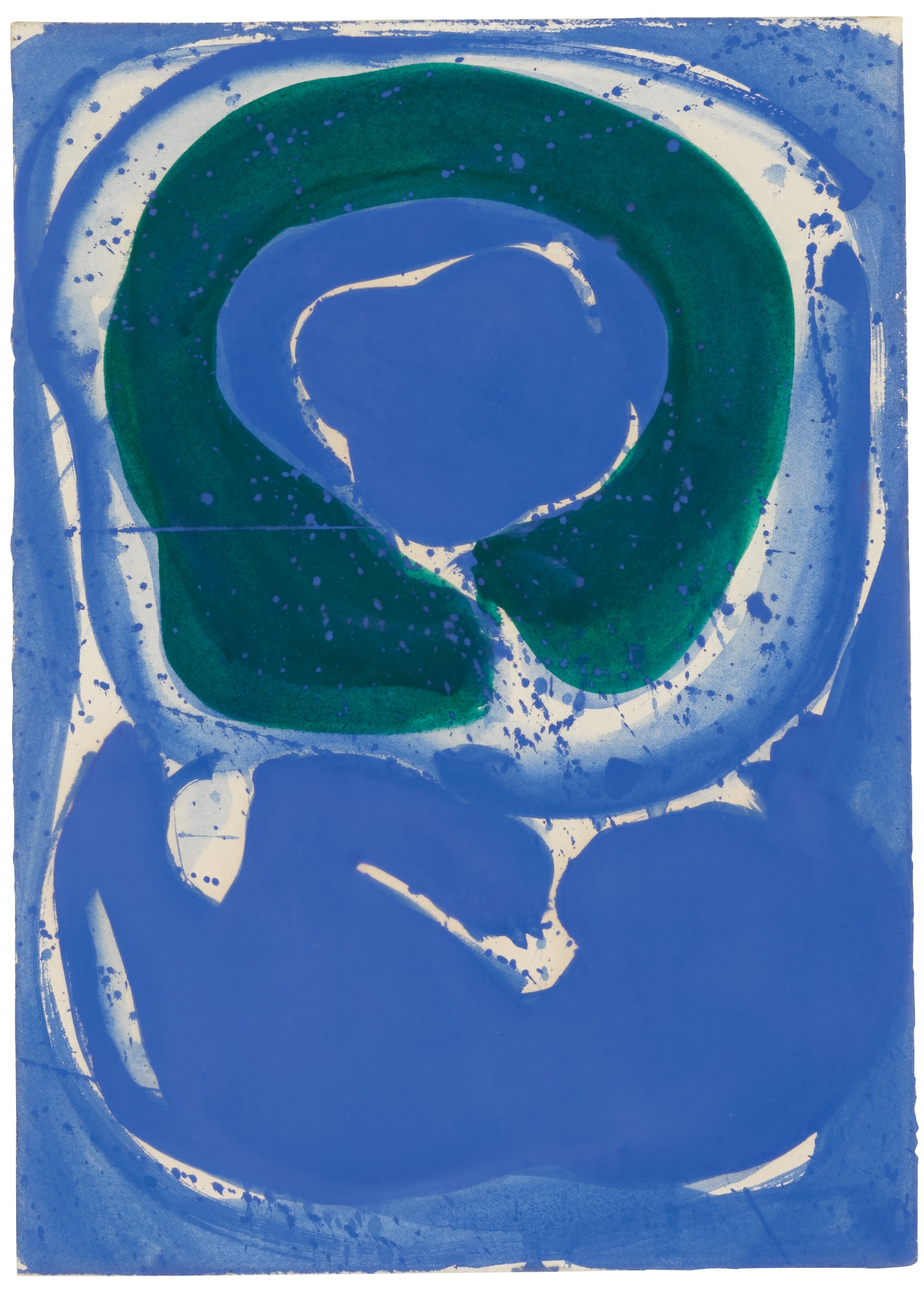 SAM FRANCIS | BLUE AND GREEN