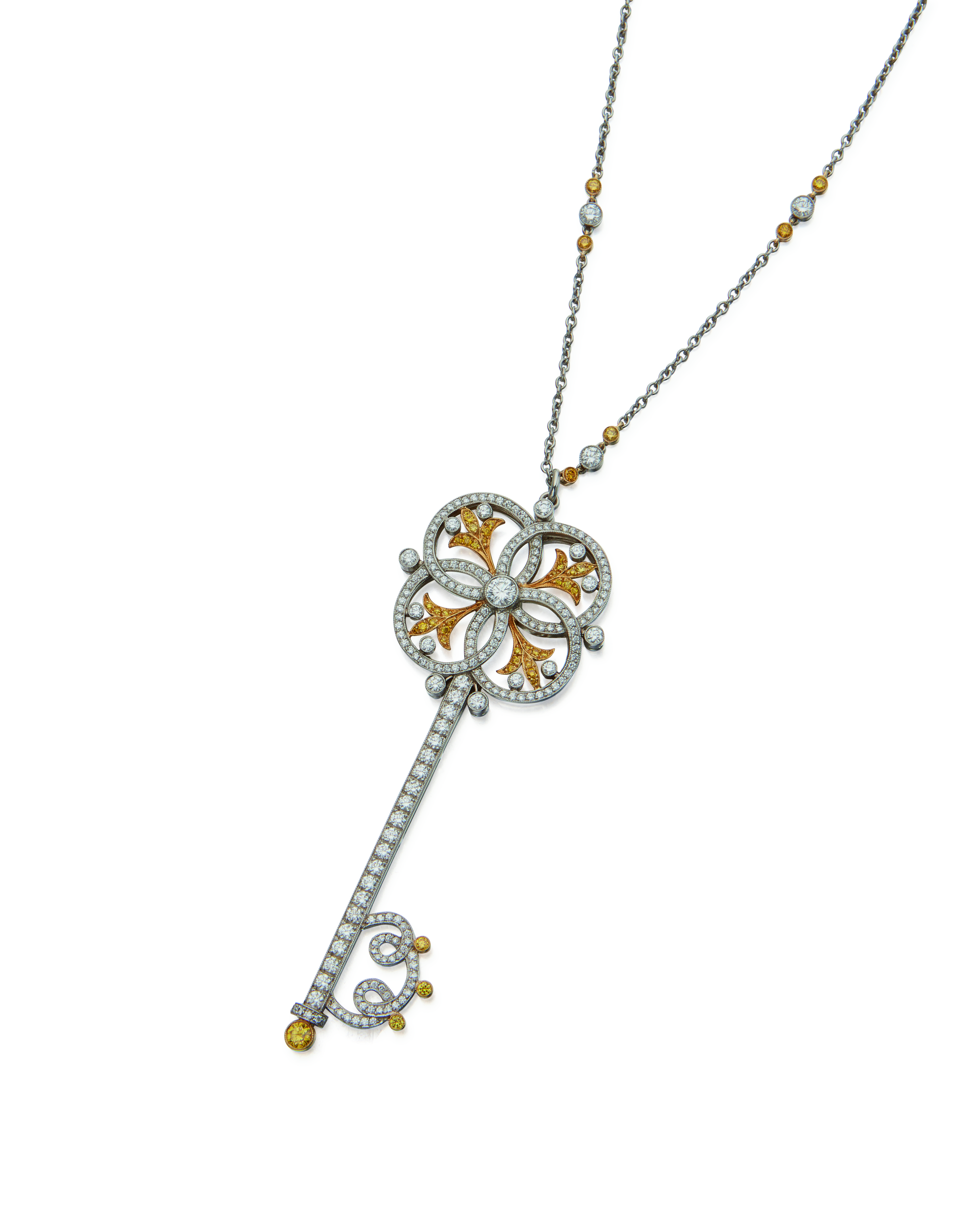 View full screen - View 1 of Lot 6. COLORED DIAMOND AND DIAMOND 'CIRCLE' PENDANT-NECKLACE, TIFFANY & CO..