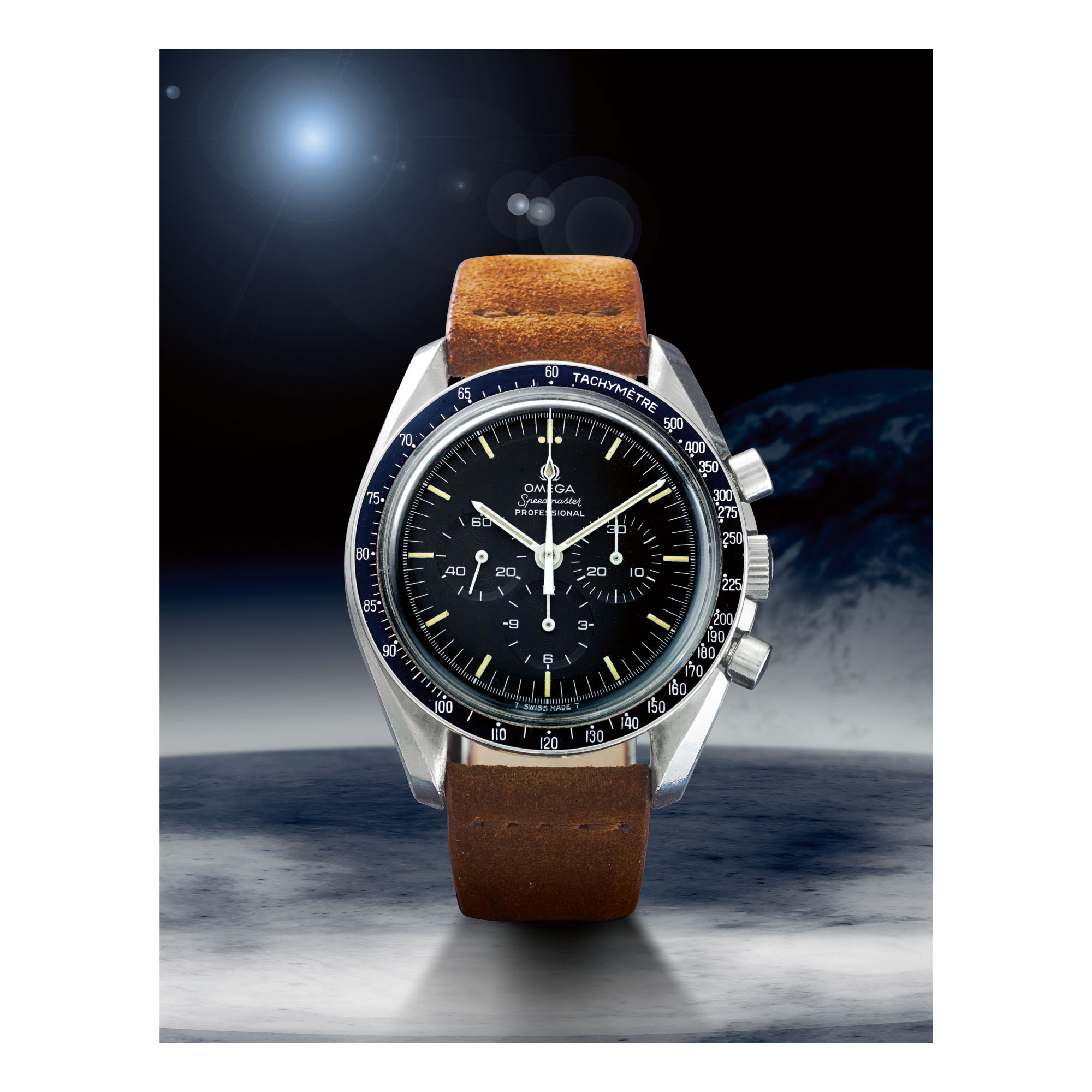 OMEGA   SPEEDMASTER REF 145.022-69 ST 'STEPPED DIAL', A STAINLESS STEEL CHRONOGRAPH WRISTWATCH, MADE IN 1970