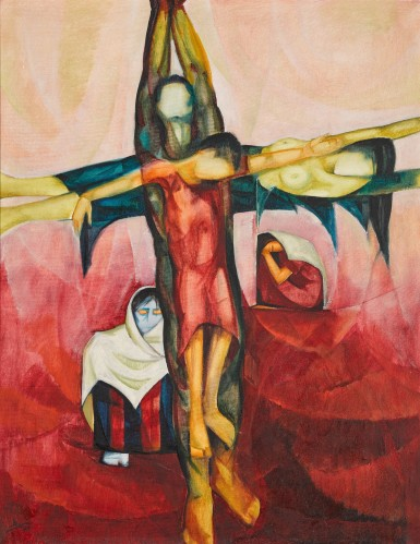 View full screen - View 1 of Lot 18. ISMAEL SHAMMOUT | CRUCIFIXION.