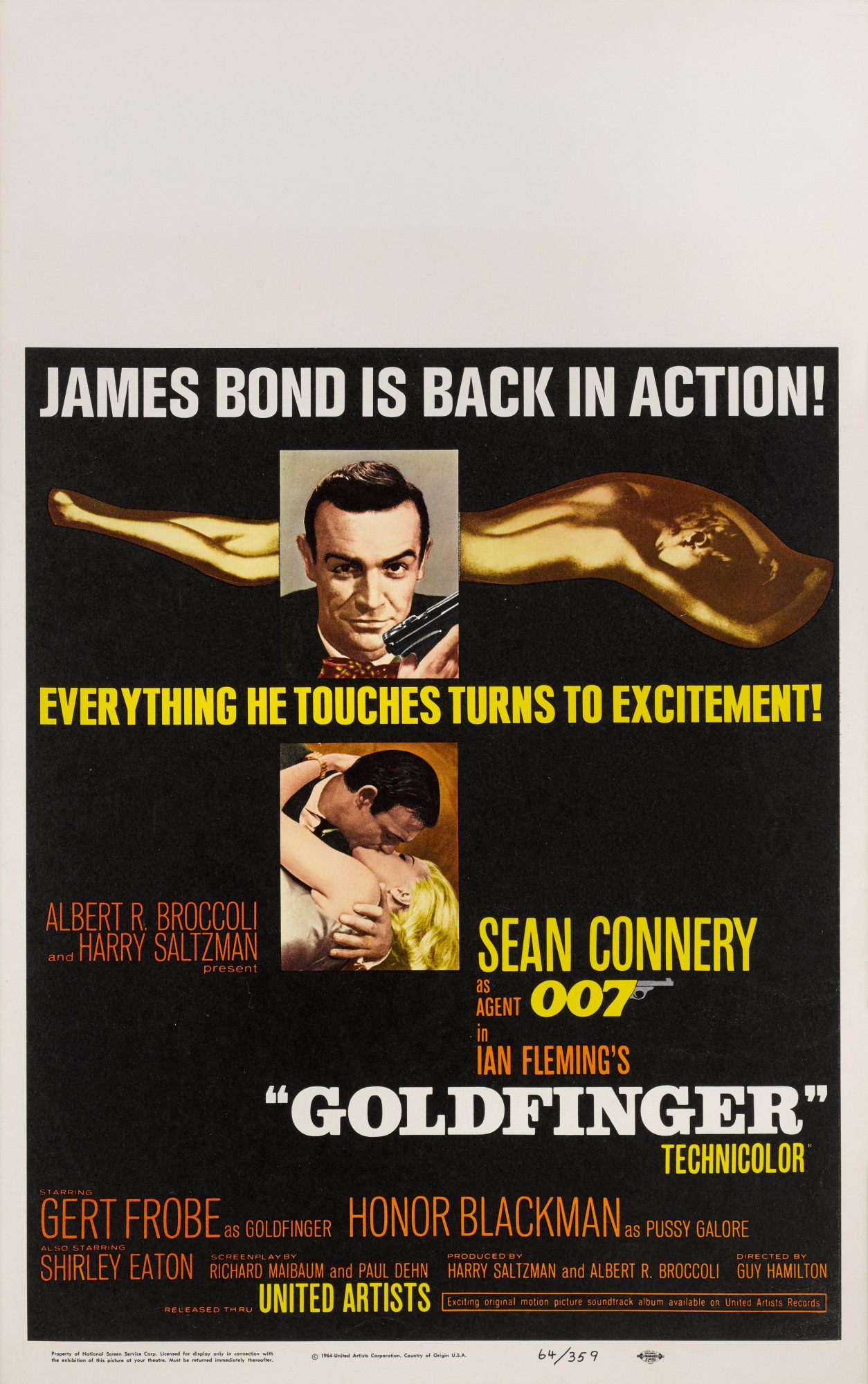 GOLDFINGER (1964) POSTER, US