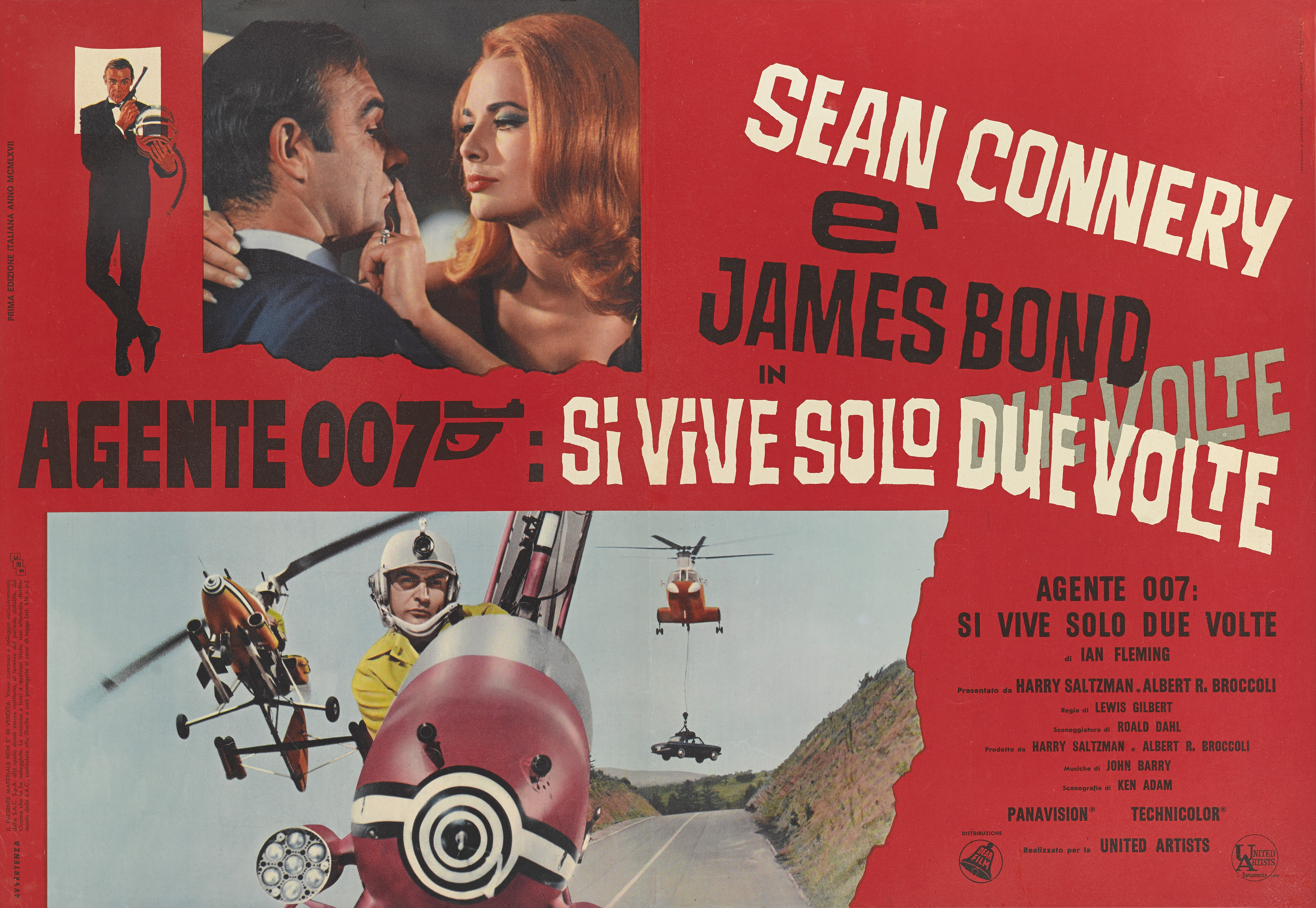 View 1 of Lot 72. YOU ONLY LIVE TWICE / SI VIVE SOLO DUE VOLTE (1967) POSTER, ITALIAN  .