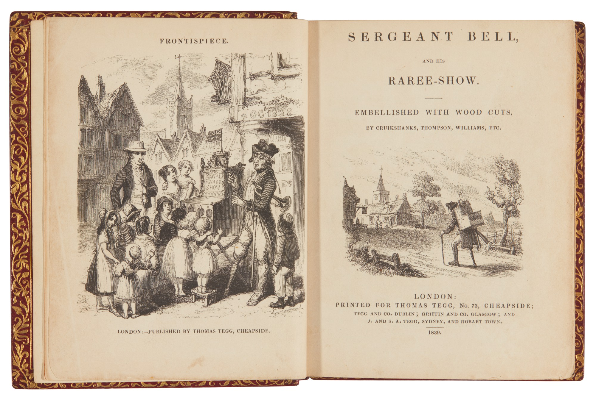 [Mogridge]--[Dickens], Sergeant Bell, and his Raree-Show, 1839, first edition