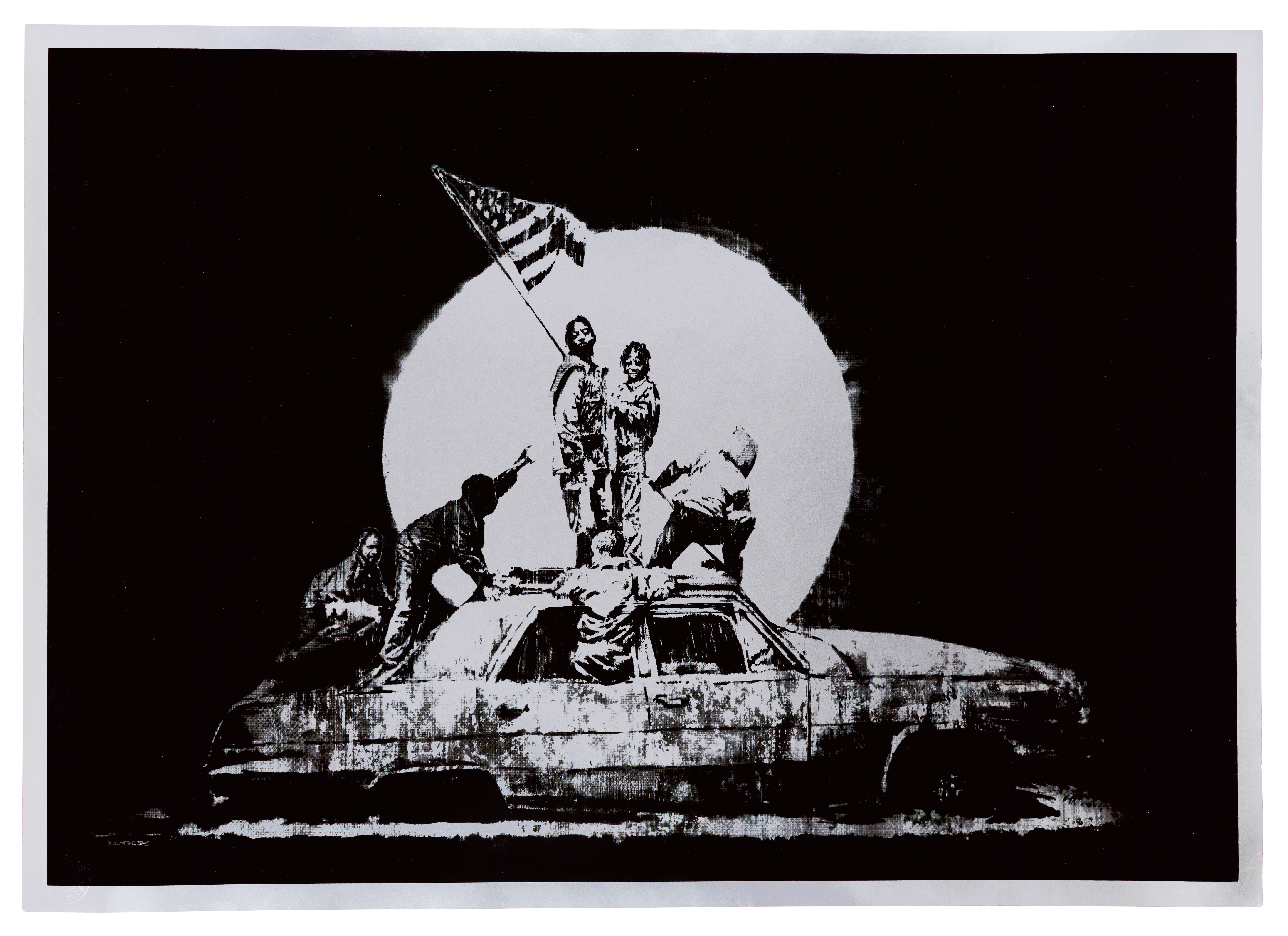 View full screen - View 1 of Lot 20. BANKSY | FLAG (SILVER).