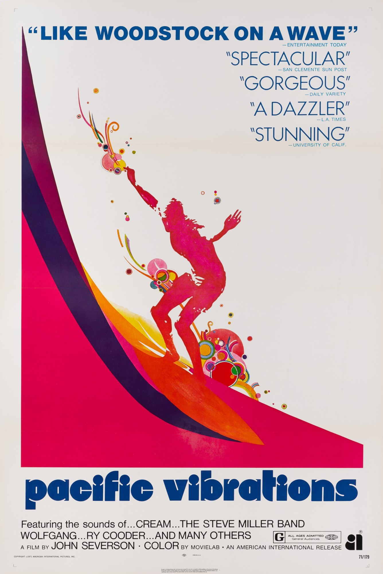 PACIFIC VIBRATIONS (1970) POSTER, US