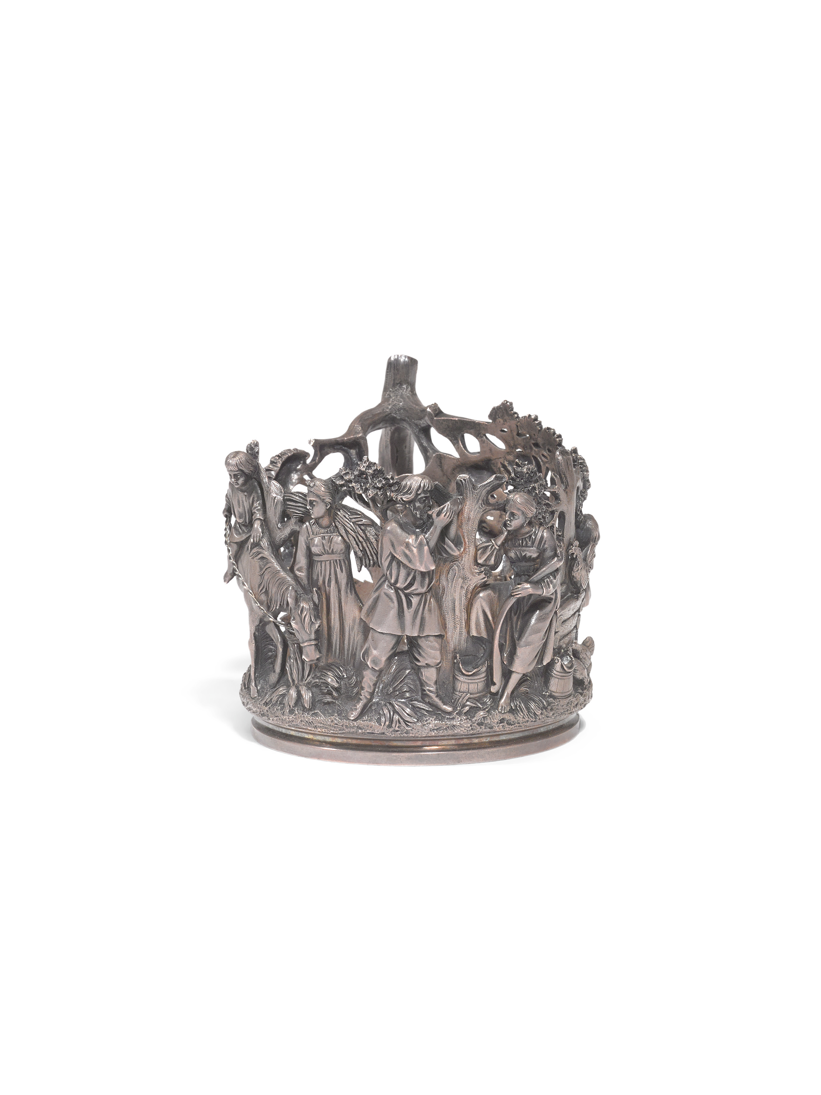 View full screen - View 1 of Lot 326. A silver tea-glass holder, Nicholls and Plinke, St Petersburg, late 19th century.