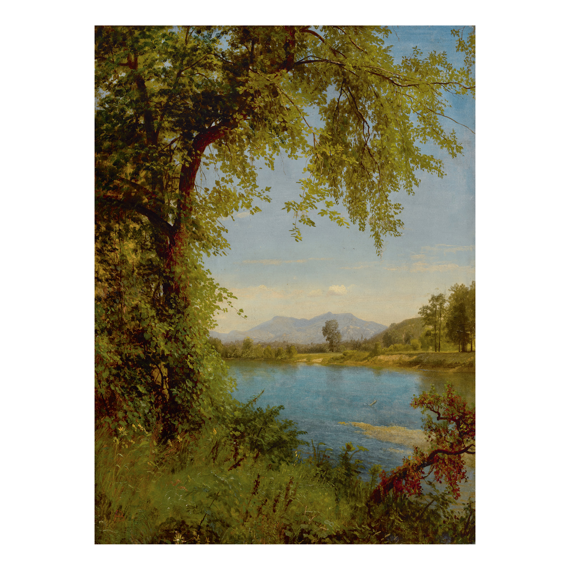 ALBERT BIERSTADT | SOUTH AND NORTH MOAT MOUNTAINS