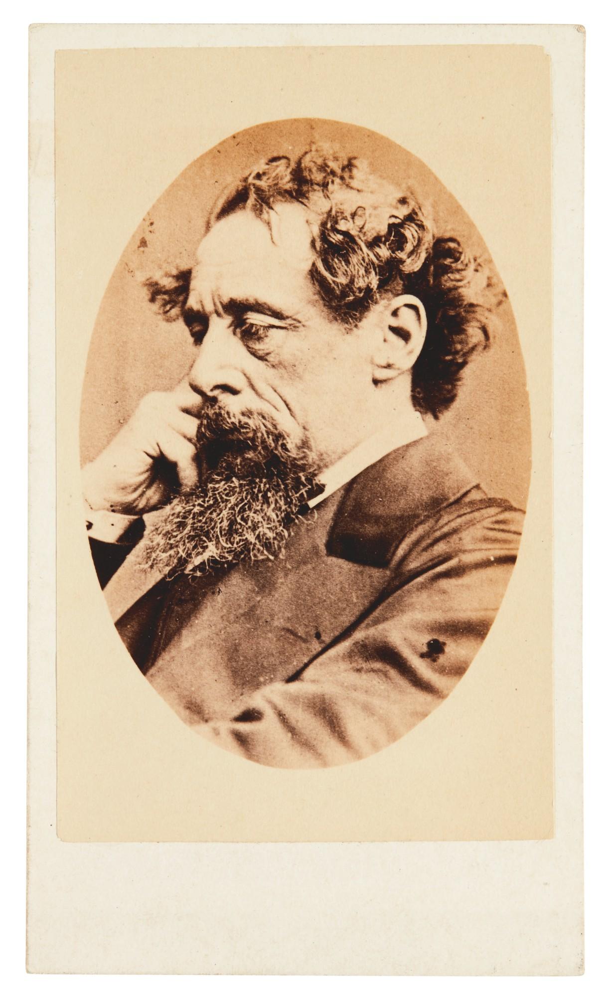 Watkins, Carte de visite of Dickens, 1863
