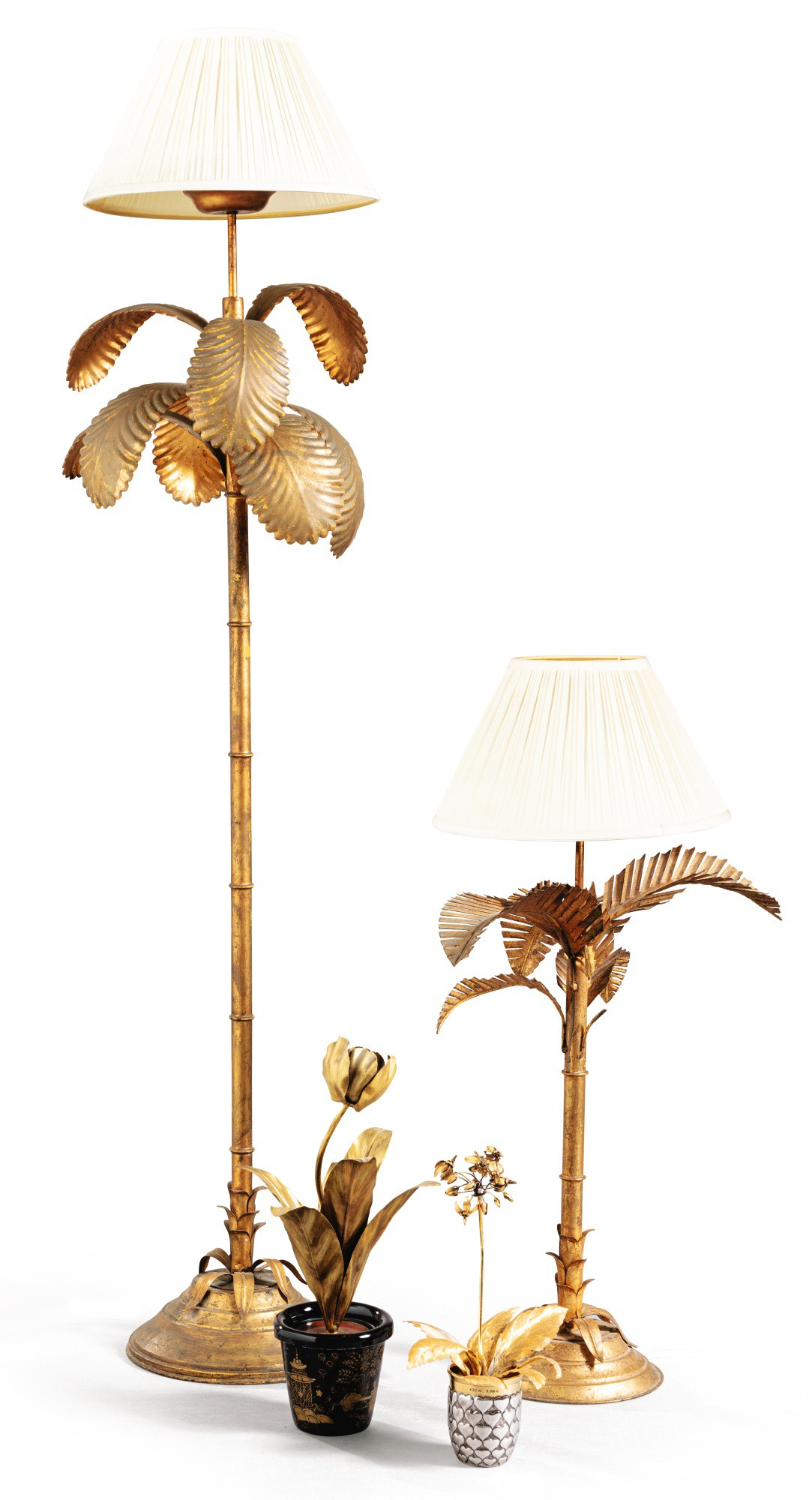 Modern School 20th Century A Palm Tree Floor Lamp And A Lamp The French Touch Hommage à Alain Et Catherine Bernard Sotheby S