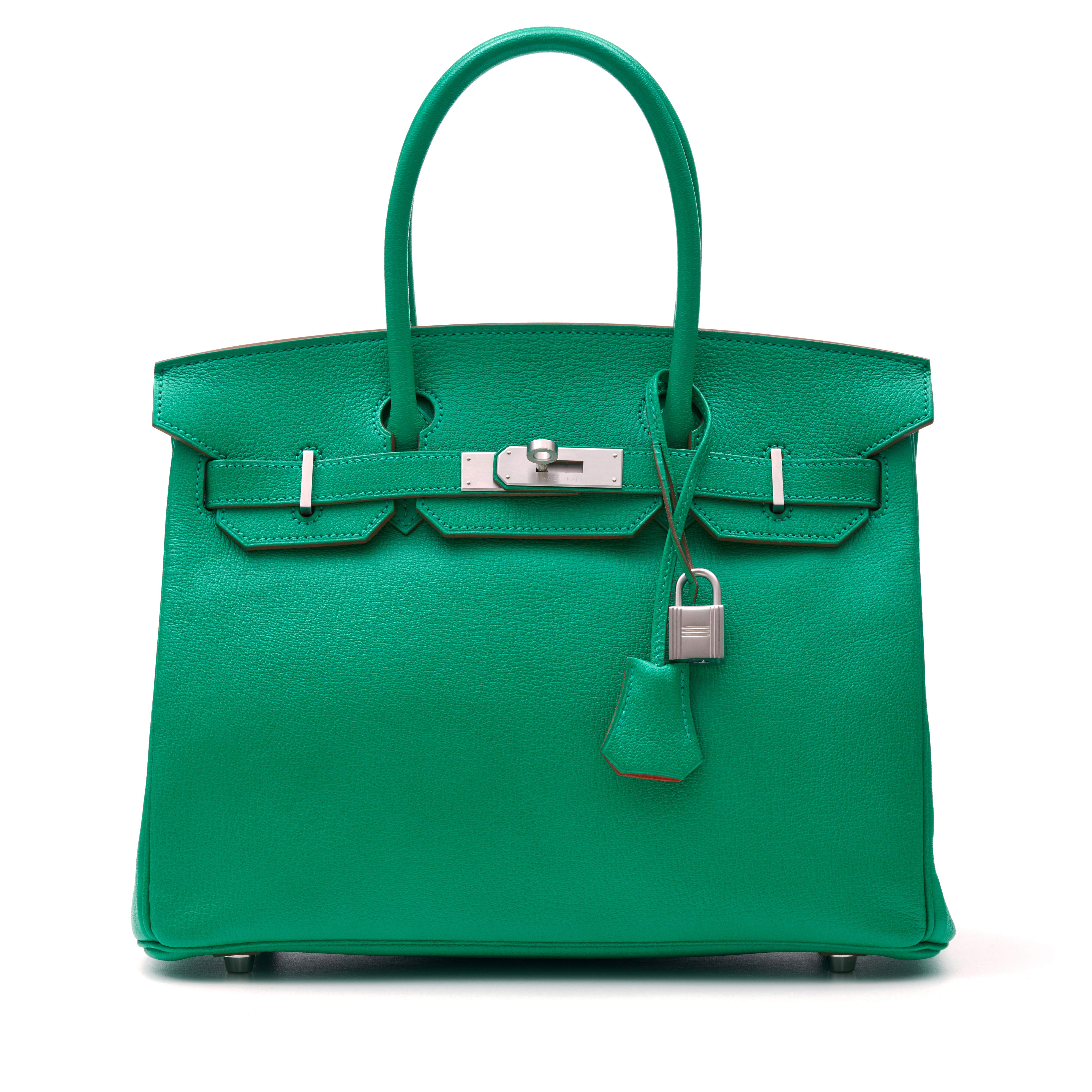 View full screen - View 1 of Lot 346. Menthe Birkin 30cm in Chèvre Mysore Leather with Palladium Hardware, 2013.