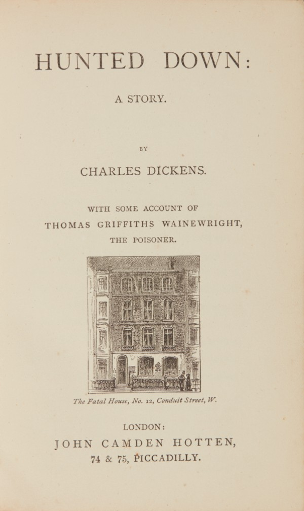 Dickens, Hunted Down, [1870], first English edition, rebound