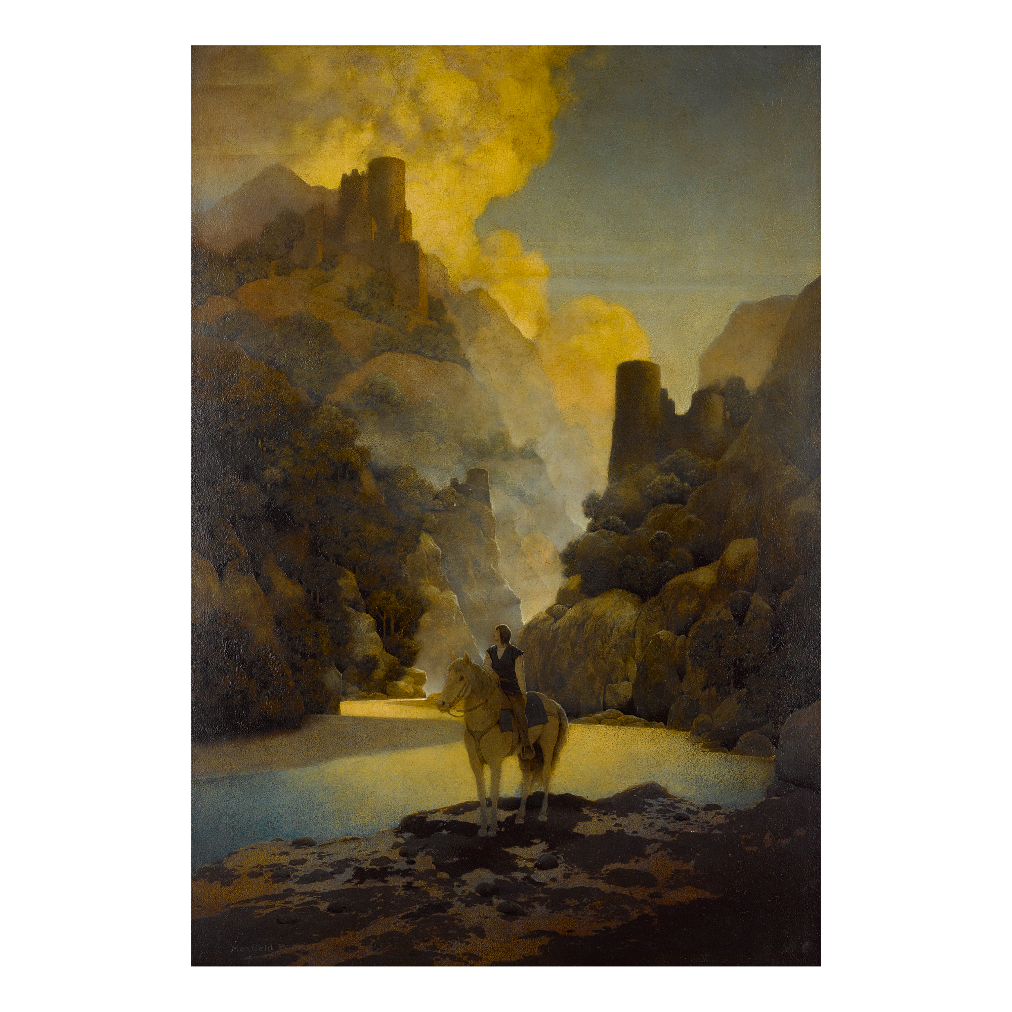 MAXFIELD PARRISH | ROMANCE: AUCASSIN SEEKS FOR NICOLETTE