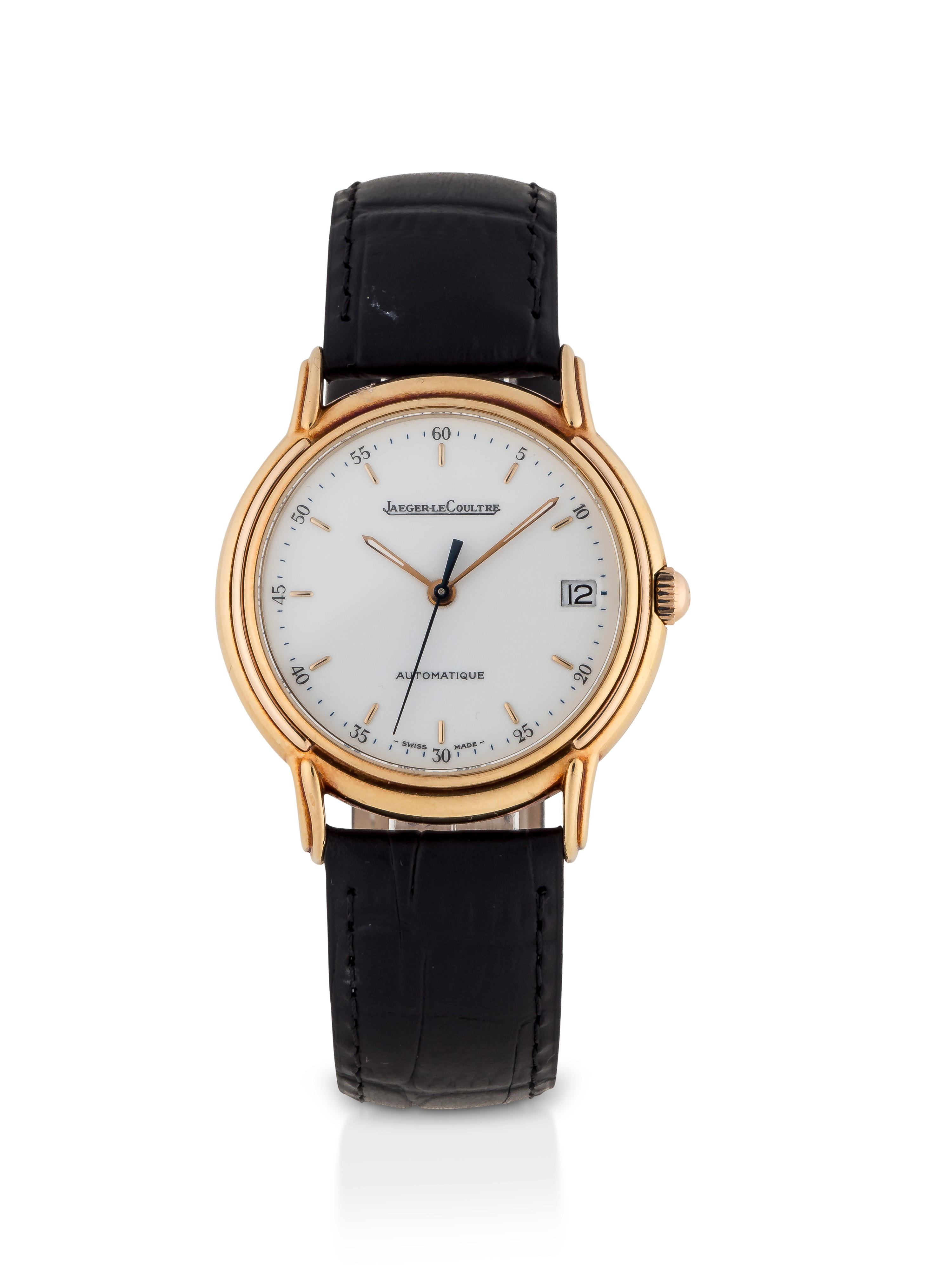 JAEGER-LECOULTRE | ODYSSEUS, REF 165.7.89 S YELLOW GOLD WRISTWATCH WITH DATE CIRCA 1991
