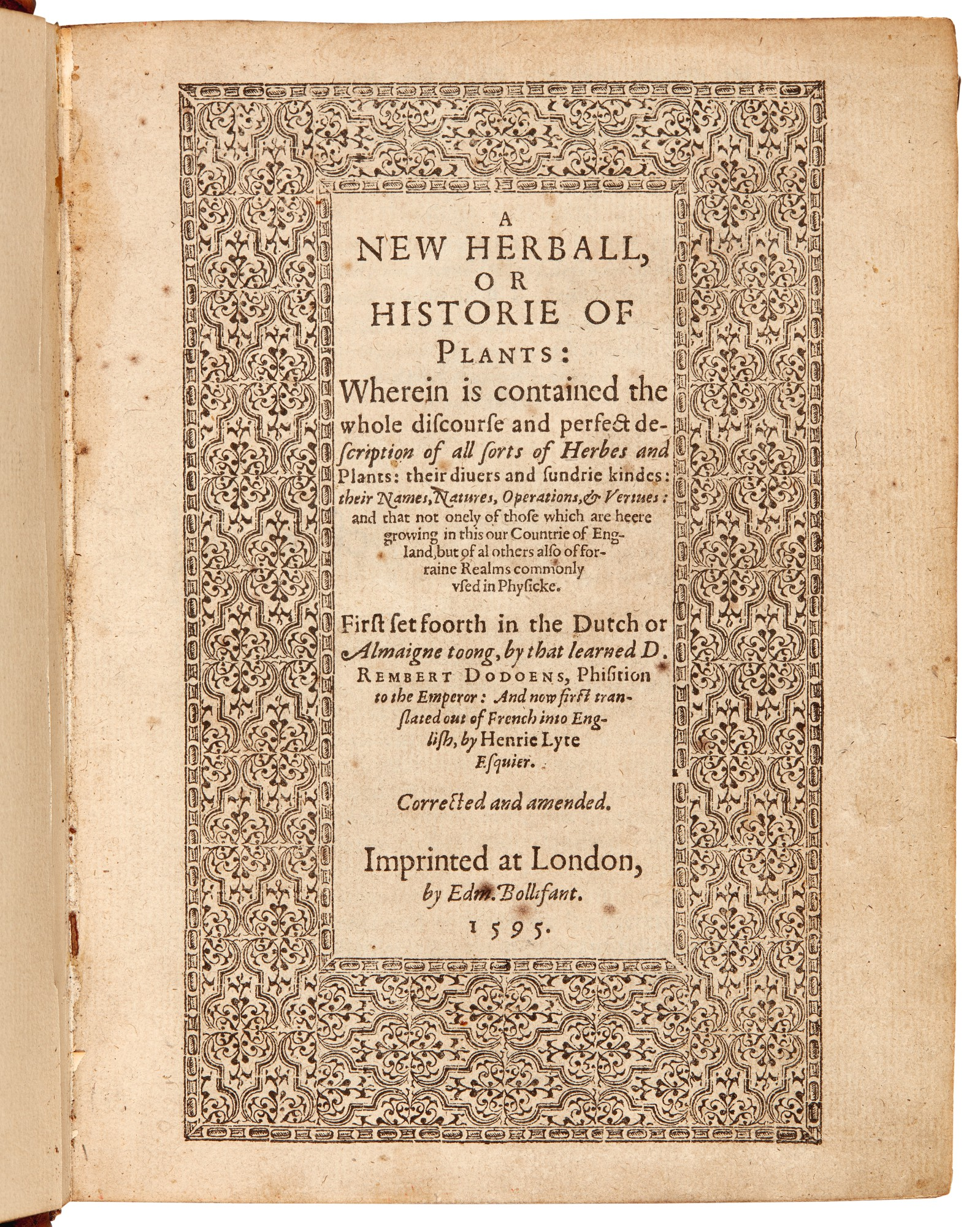 Dodoens |  A New Herball, 1595