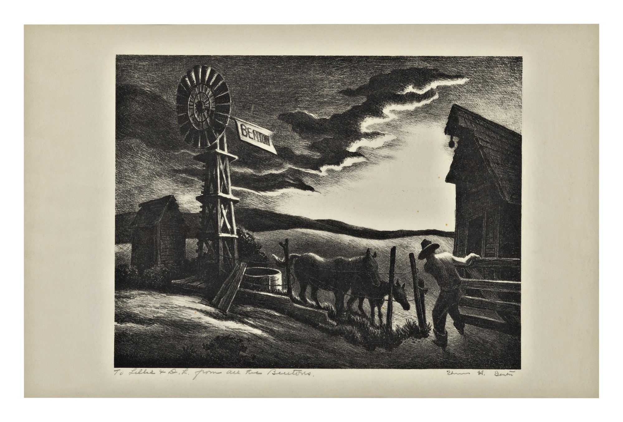 THOMAS HART BENTON | NEBRASKA EVENING (FATH 45)