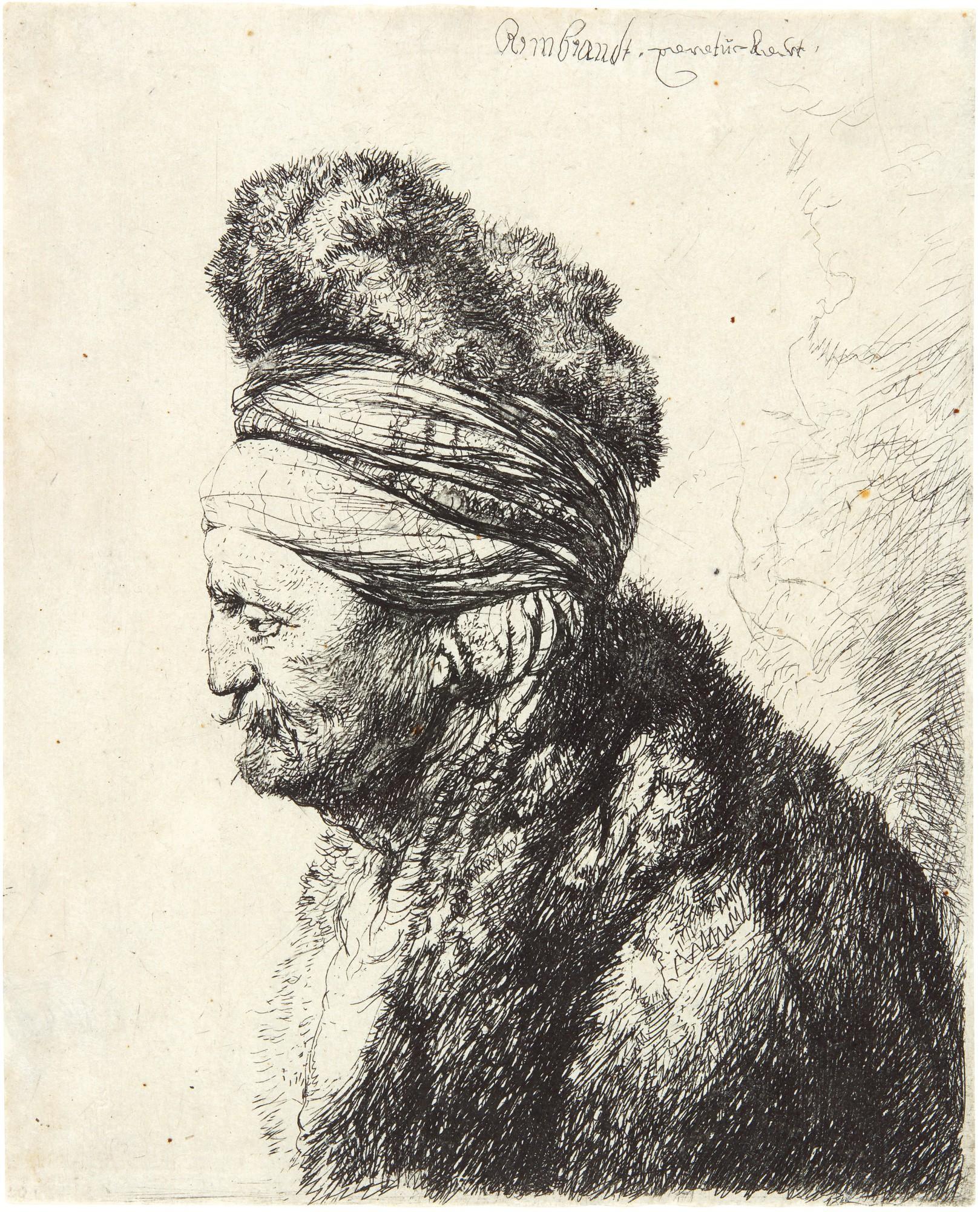 REMBRANDT HARMENSZ. VAN RIJN | THE SECOND ORIENTAL HEAD (B., HOLL. 287; NEW HOLL. 150; H. 132)