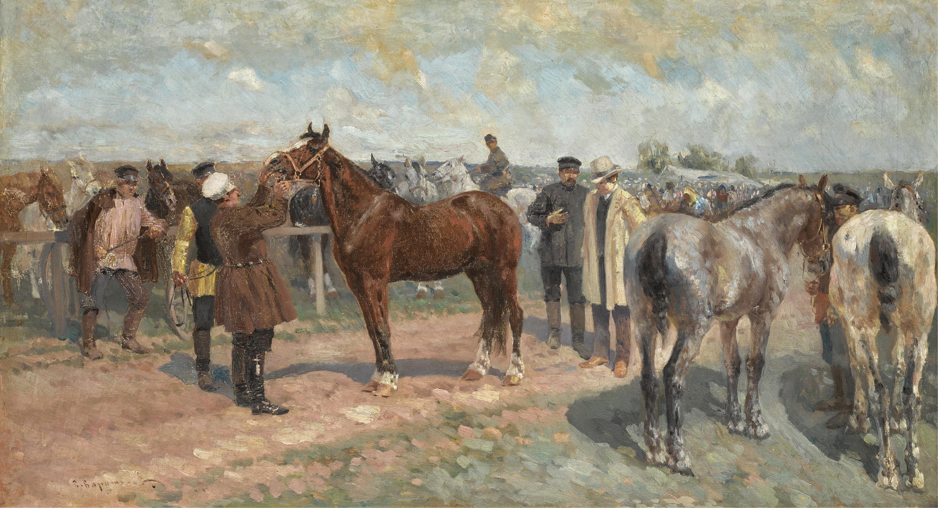 SERGEI SEMENOVICH VOROSHILOV | Horse Fair