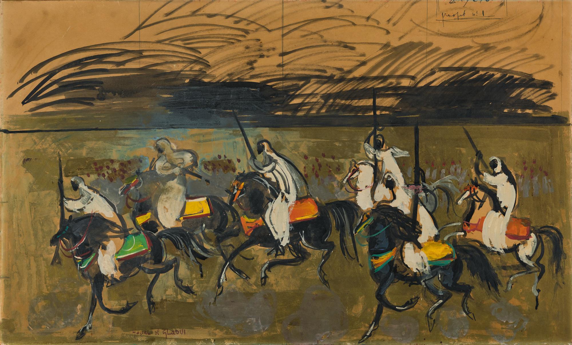 HASSAN EL GLAOUI | BERBER HORSEMEN