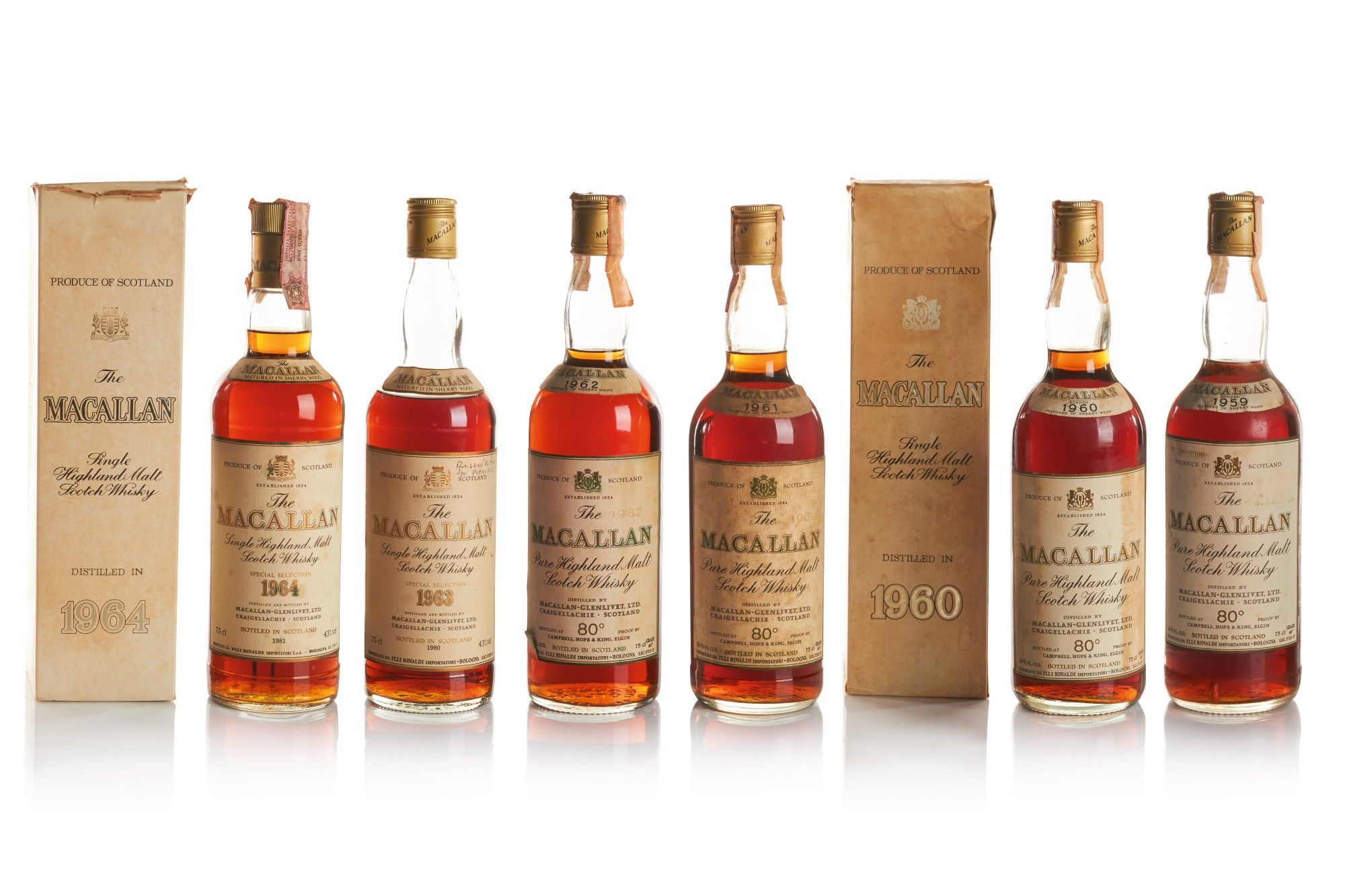 THE MACALLAN 18 YEAR OLD 43.0 ABV 1961