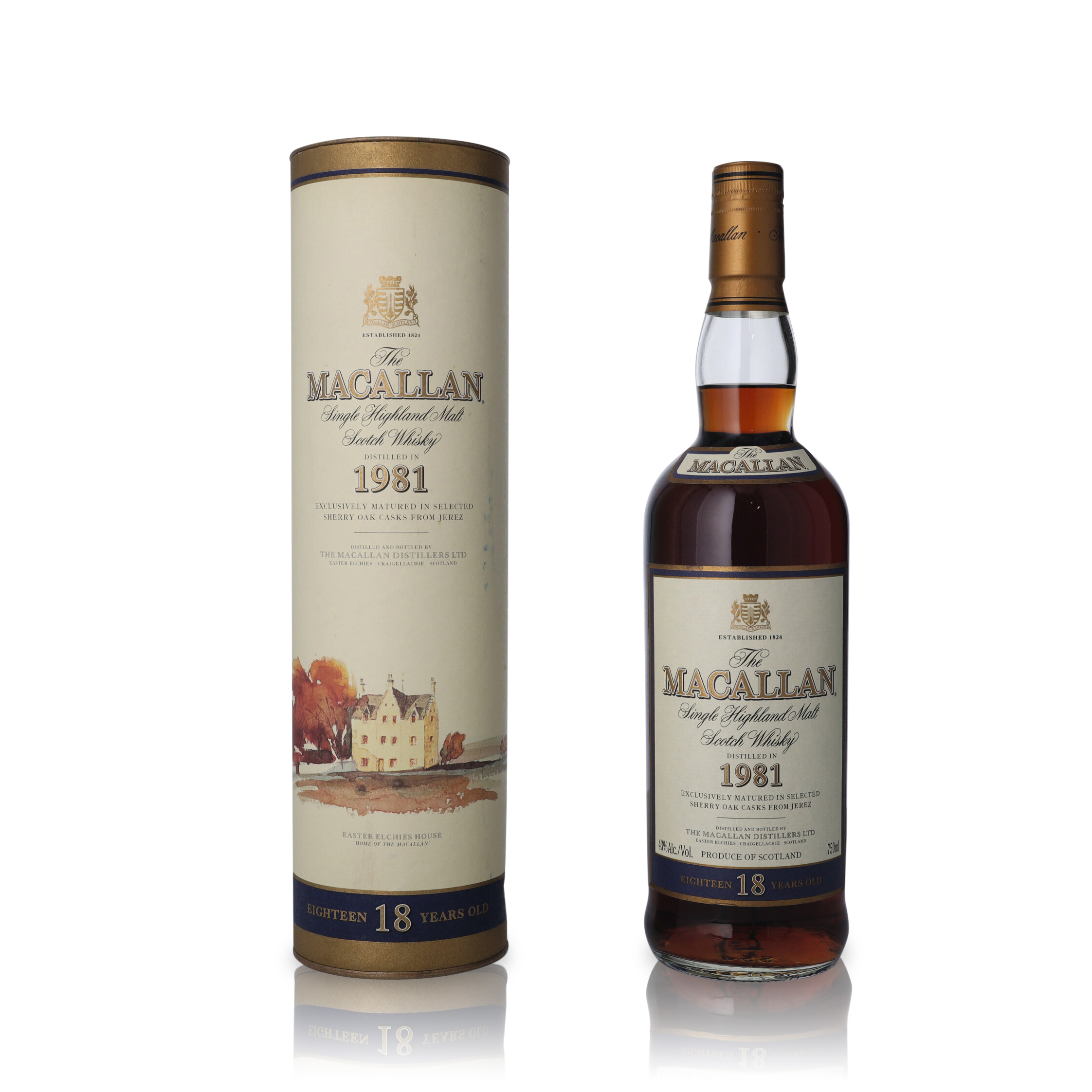 View full screen - View 1 of Lot 20.  The Macallan 18 Year Old 43.0 abv 1981 (1 BT75).